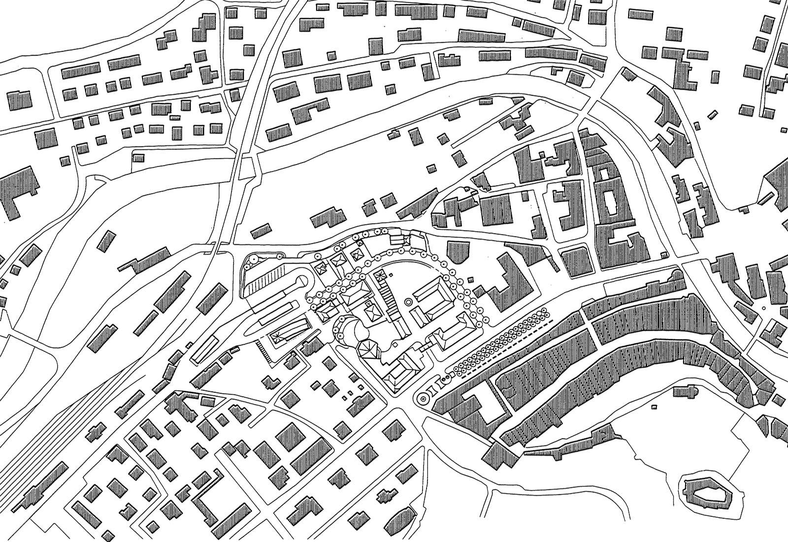 Area autocorriere Brunico - Planimetria di inquadramento