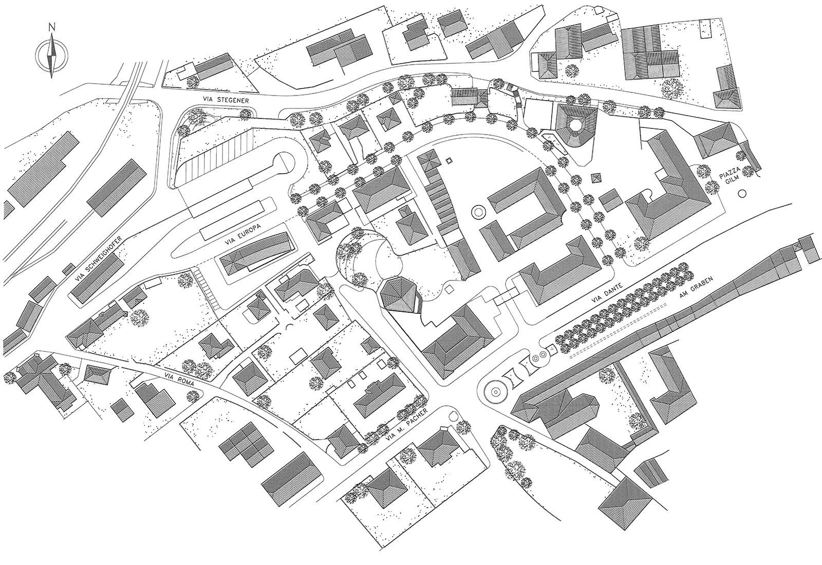 Area autocorriere Brunico - Planimetria generale di progetto