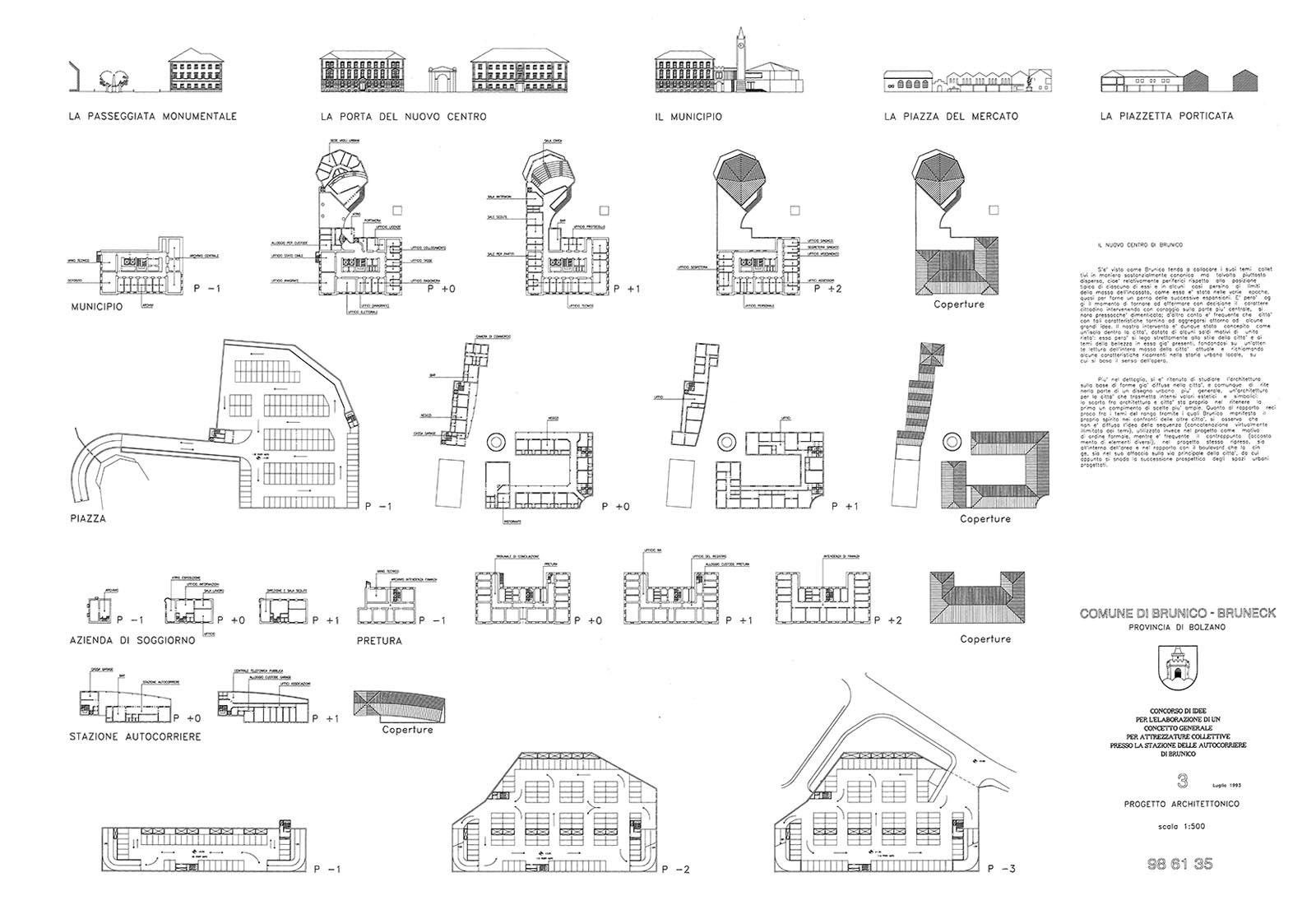 Area autocorriere Brunico - Tipologie edilizie