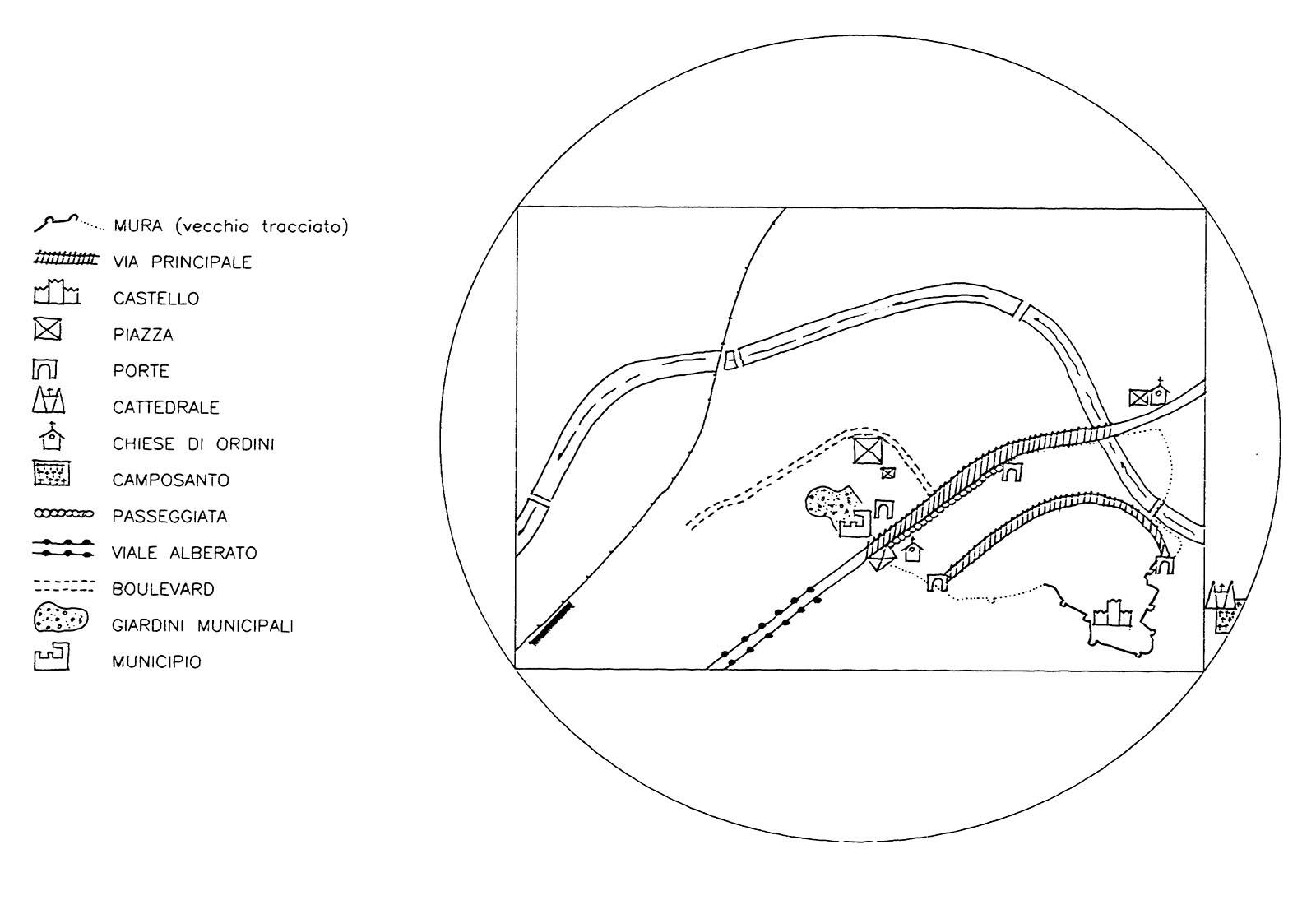 Area autocorriere Brunico - Analisi della città storica