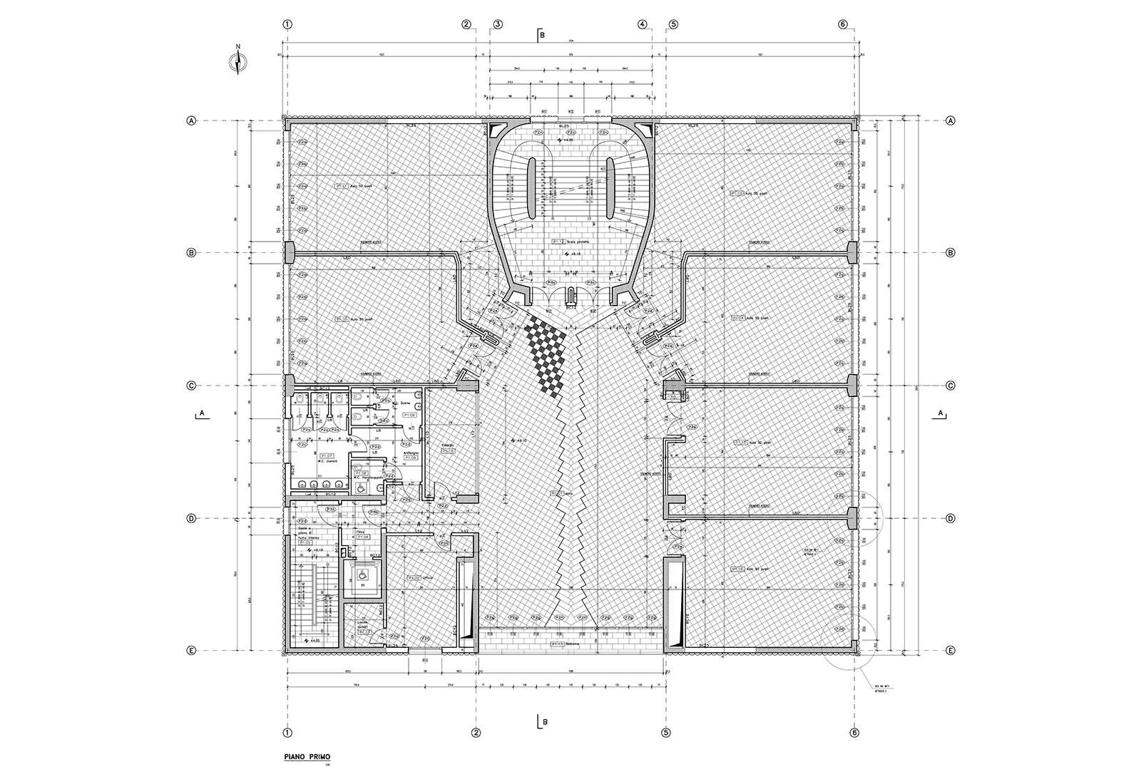 Edificio 25 Politecnico di Milano - Pianta piano primo