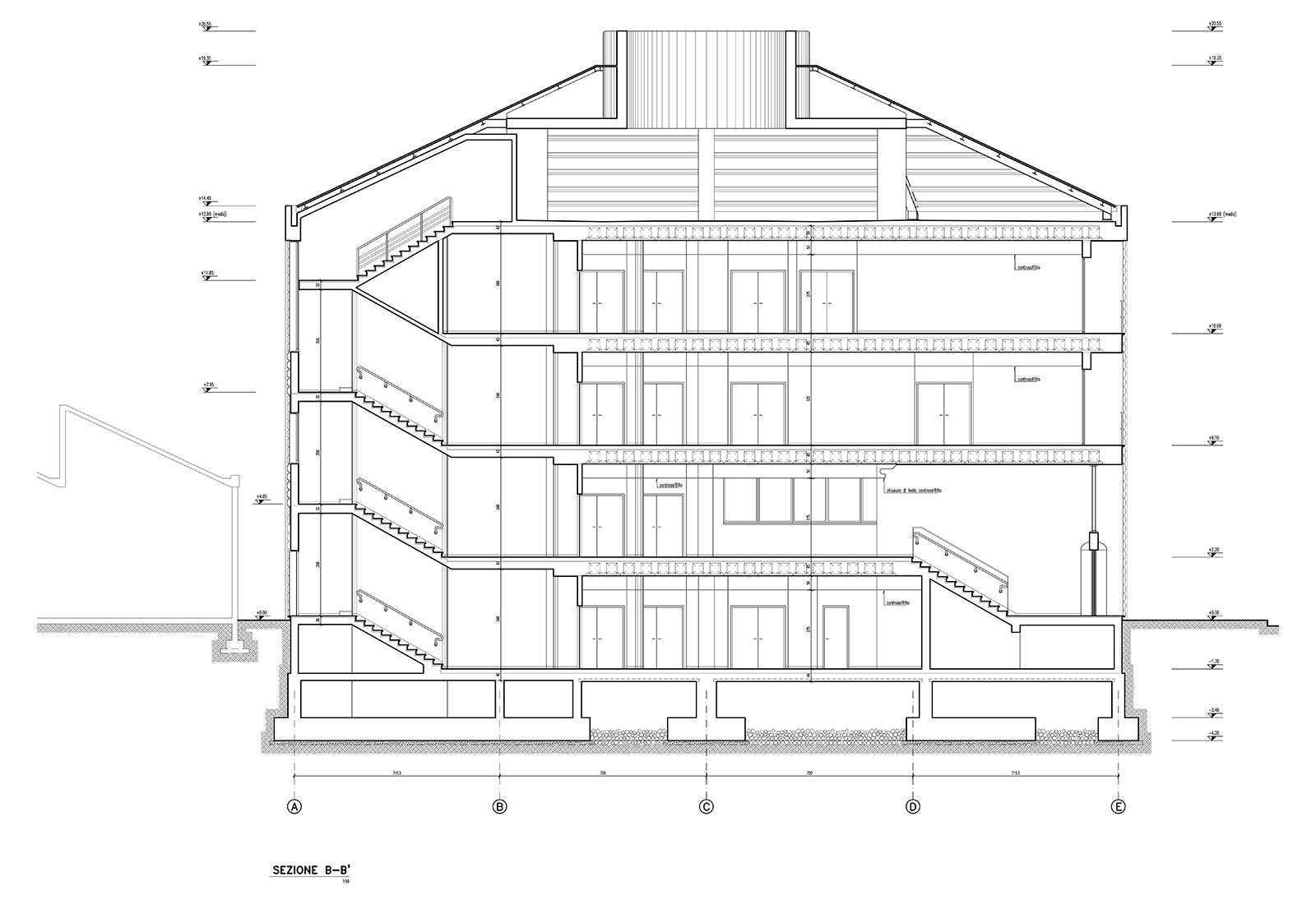 Edificio 25 Politecnico di Milano - Sezione