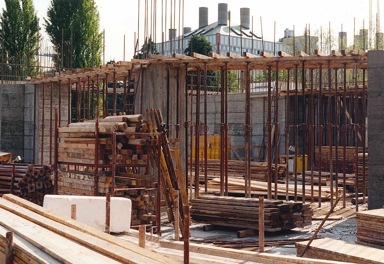 Edificio 25 Politecnico di Milano - Carpenteria travi primo piano