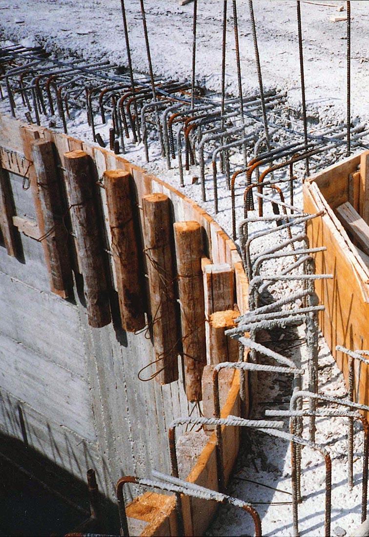 Edificio 25 Politecnico di Milano - Il muro della scala