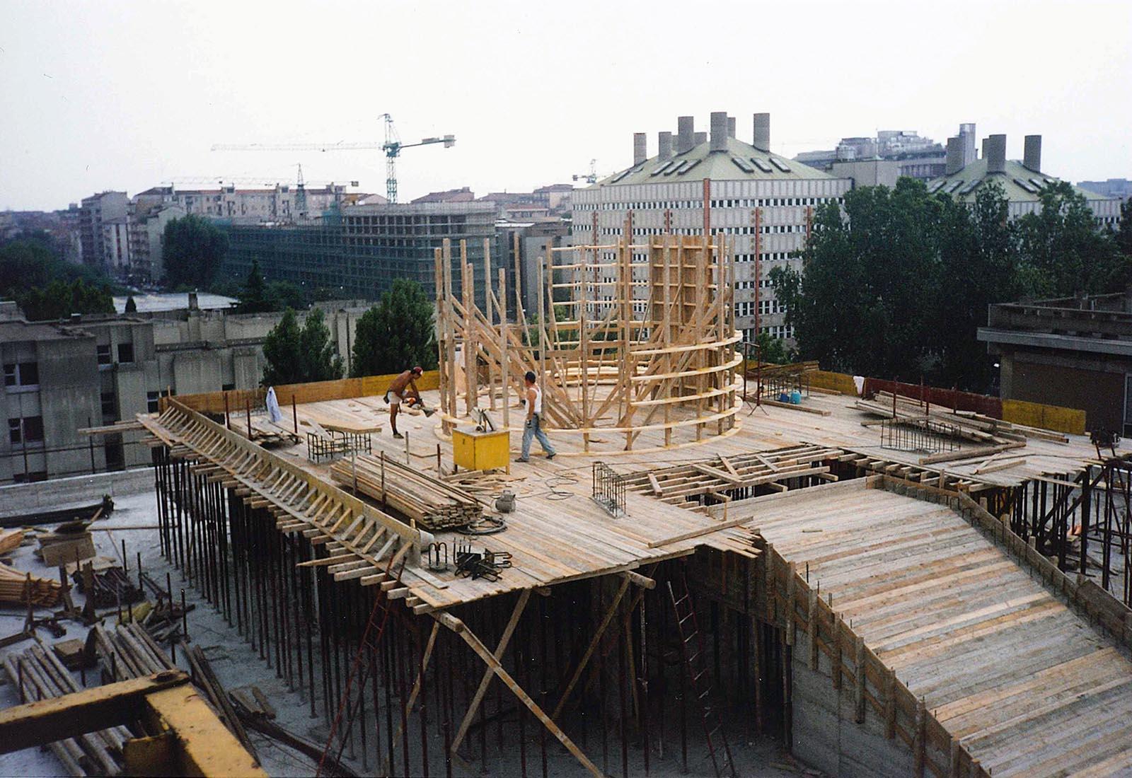 Edificio 25 Politecnico di Milano - Carpenteria solaio di copertura