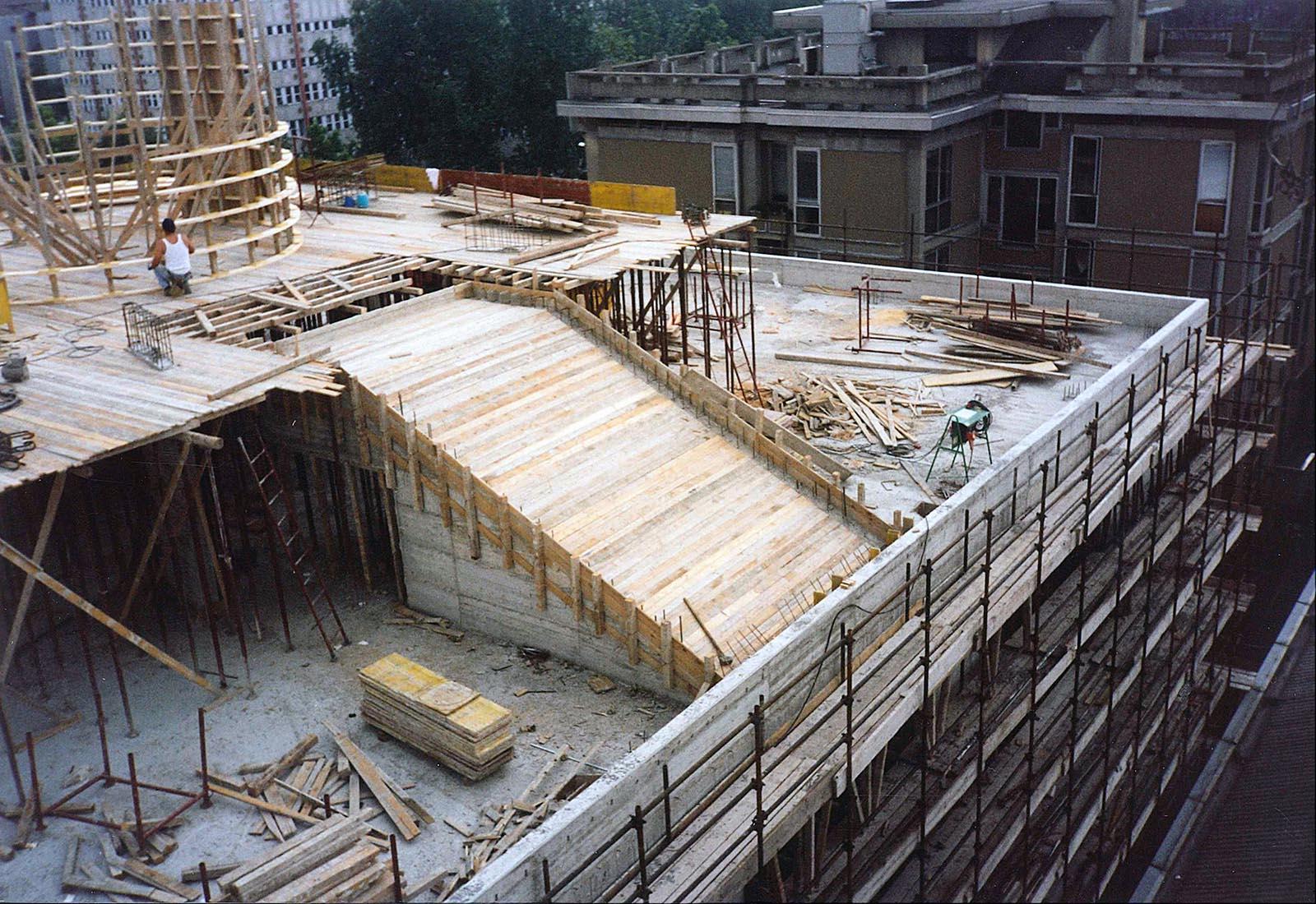 Edificio 25 Politecnico di Milano - Carpenteria tamburo di copertura