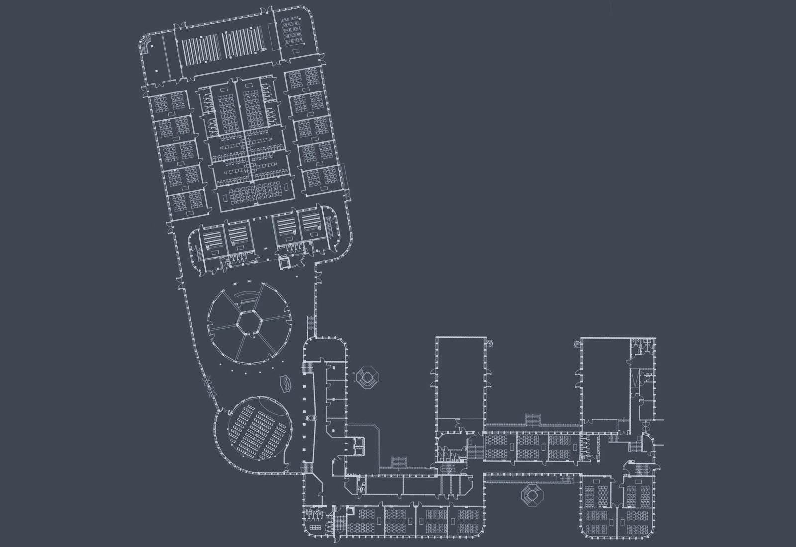 Polo scolastico Manzoni - Planimetria del complesso scolastico