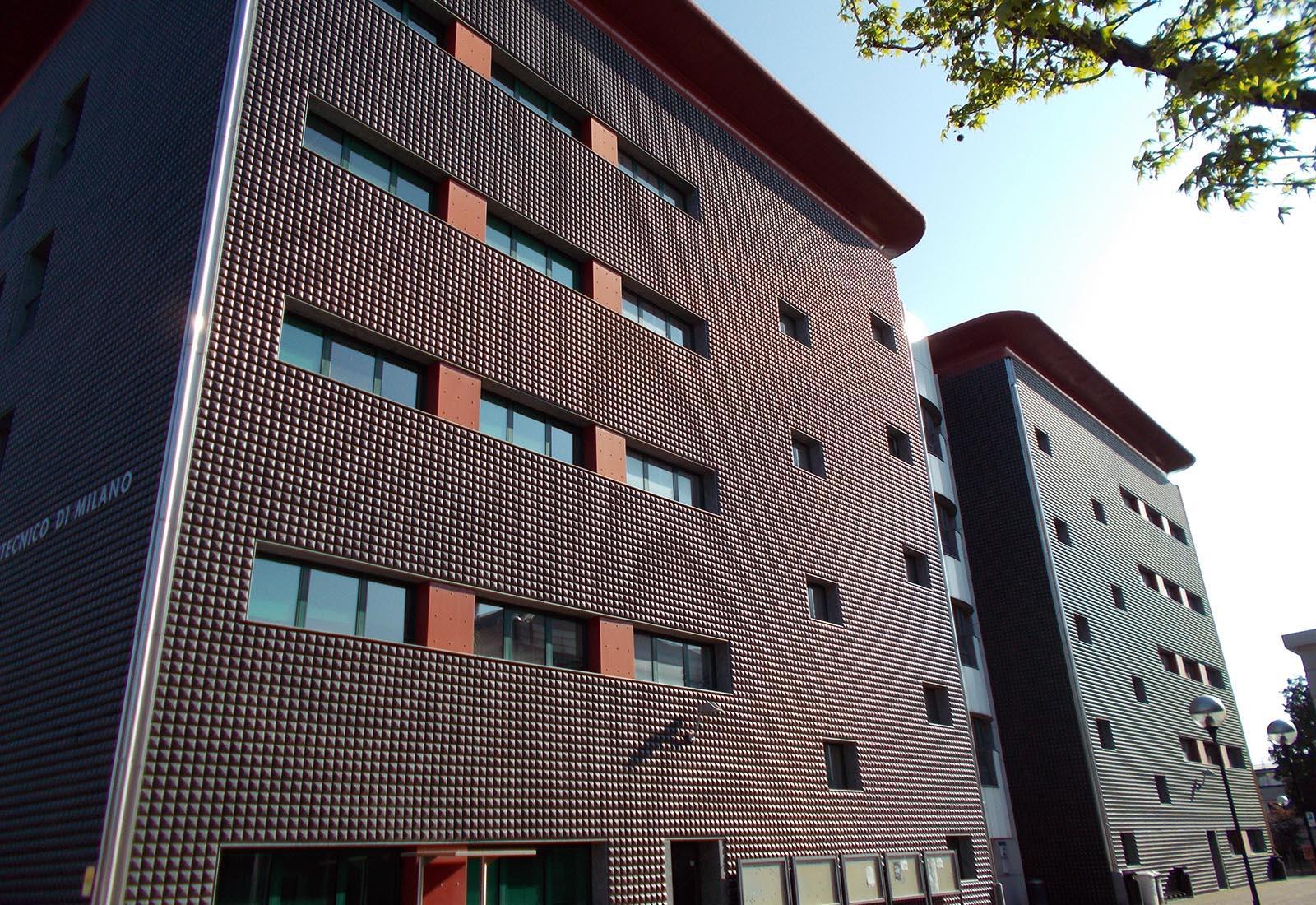 Edificio dipartimentale del politecnico di milano in via for Architettura politecnico di milano