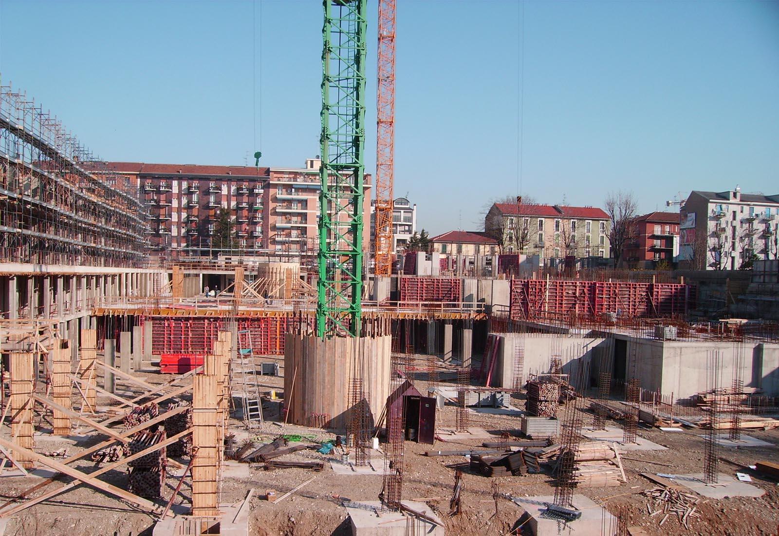 Villaggio cooperativo Grazioli - Strutture della piastra parcheggi