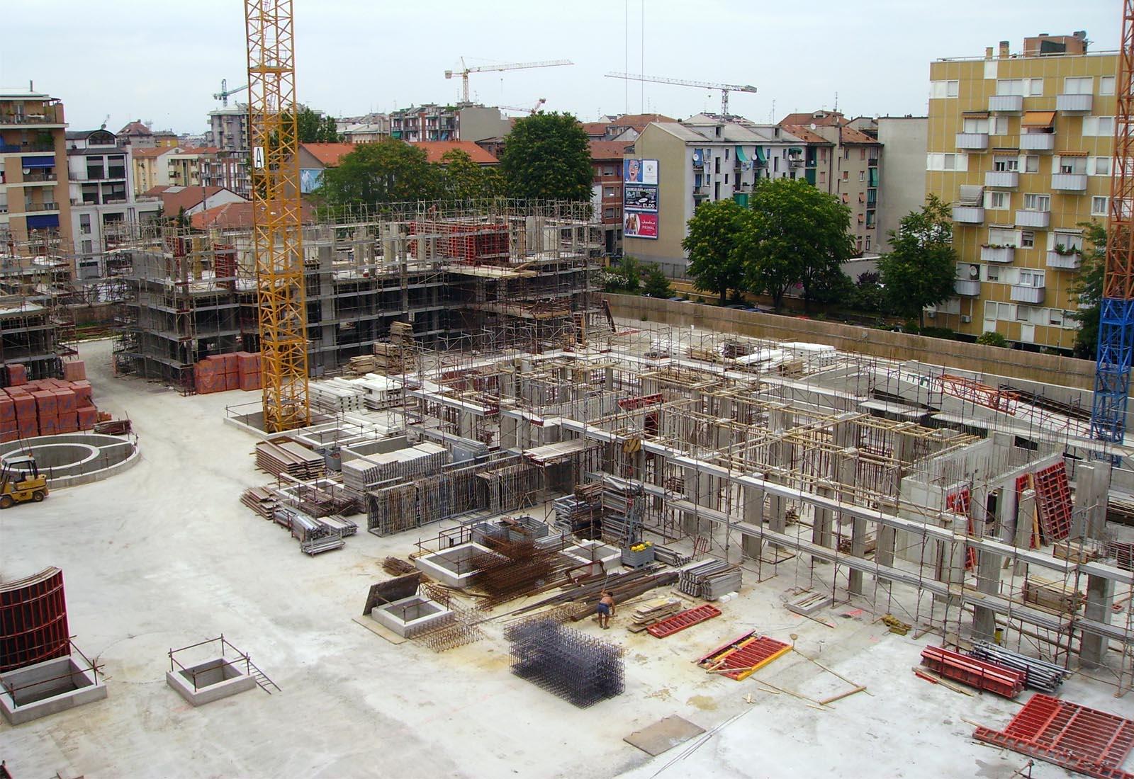 Villaggio cooperativo Grazioli - Strutture in elevazione