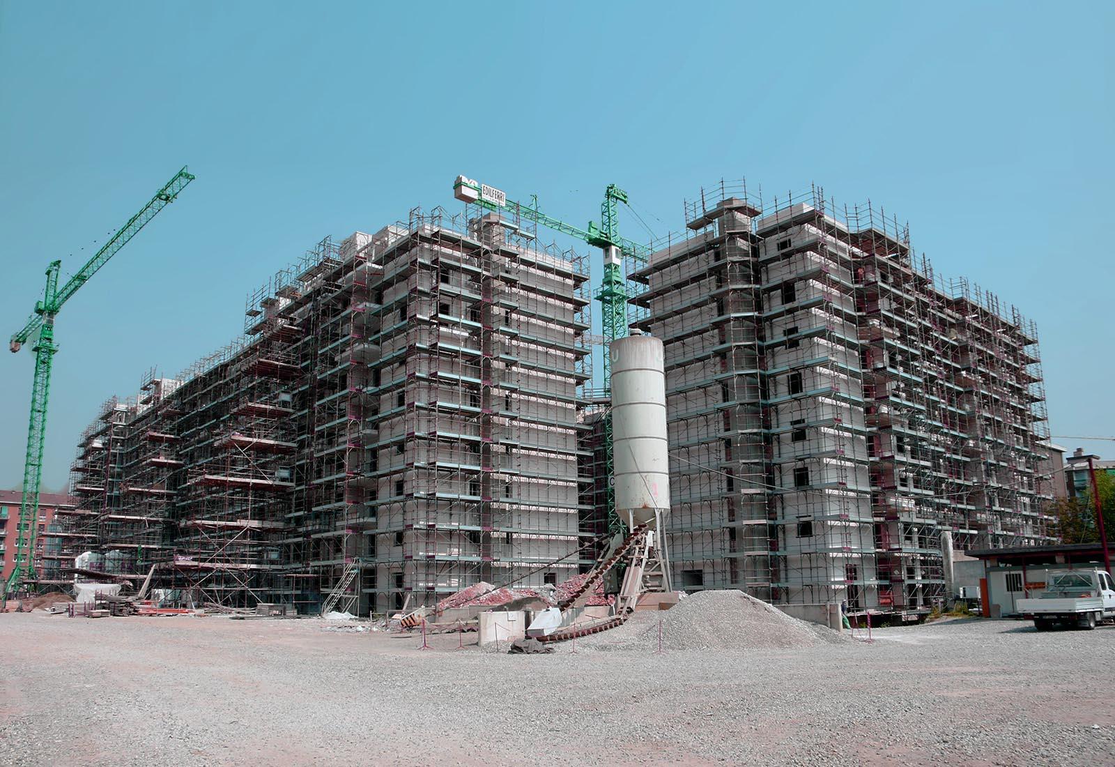 Villaggio cooperativo Grazioli - Il cantiere