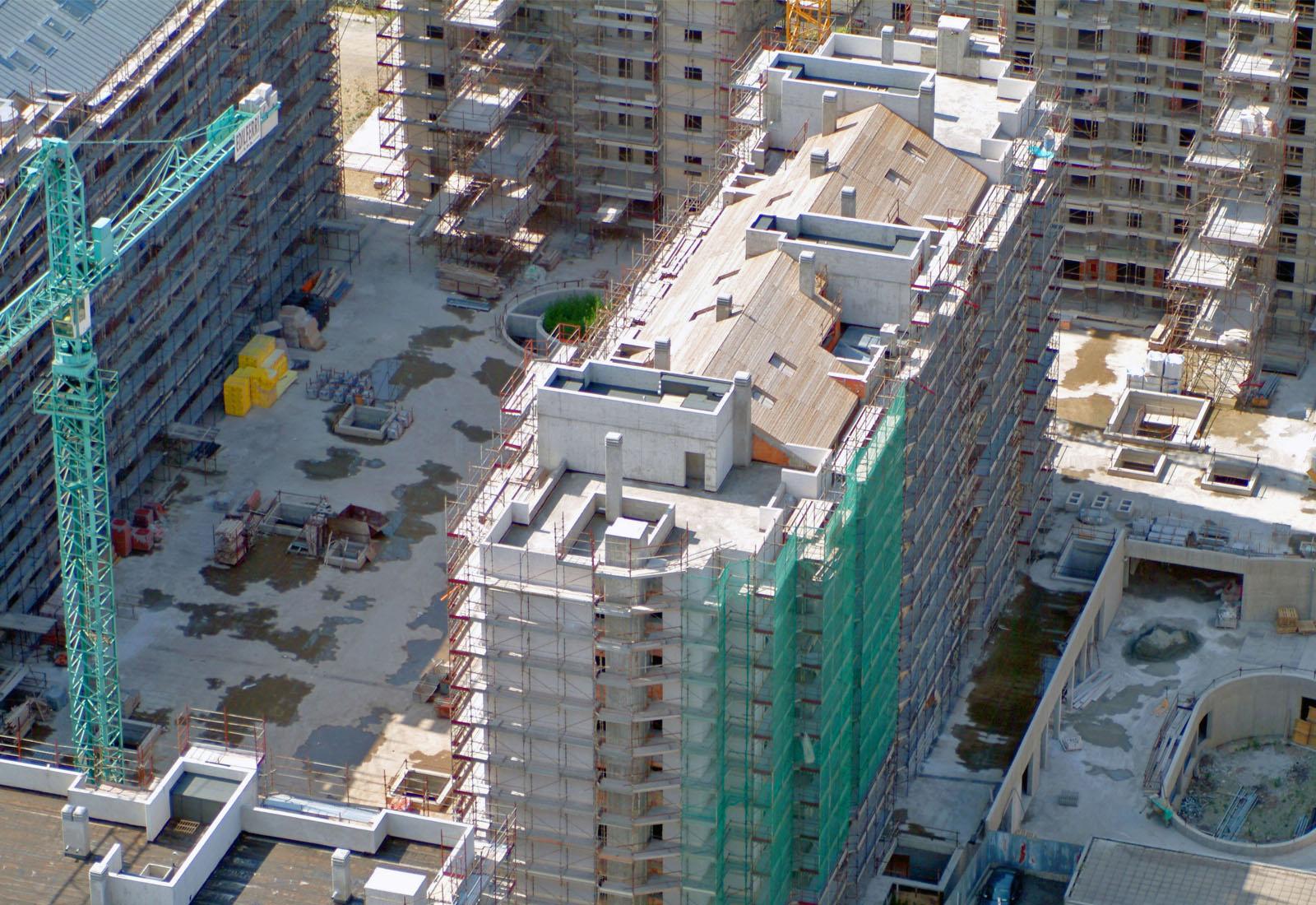 Villaggio cooperativo Grazioli - Vista aerea del cantiere