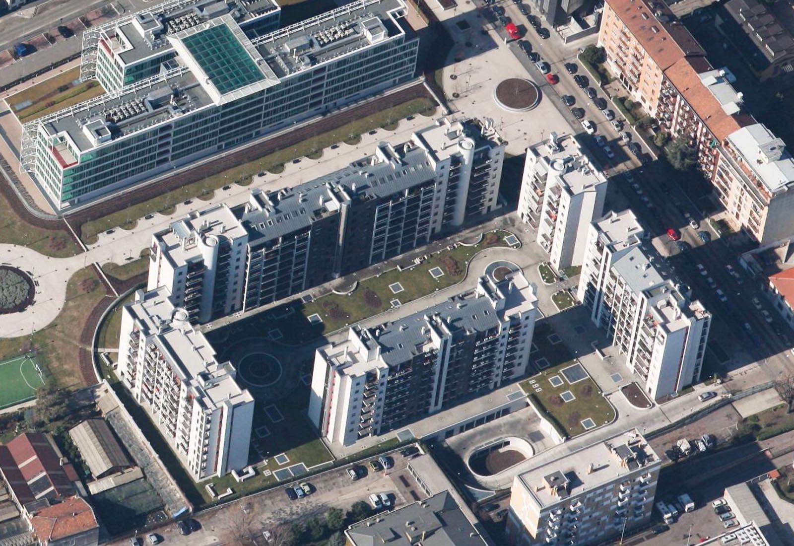 Villaggio cooperativo Grazioli - Vista aerea