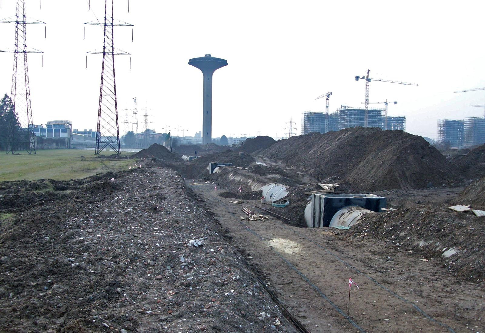 Urbanizzazioni Adriano - Il cantiere di via Vipiteno