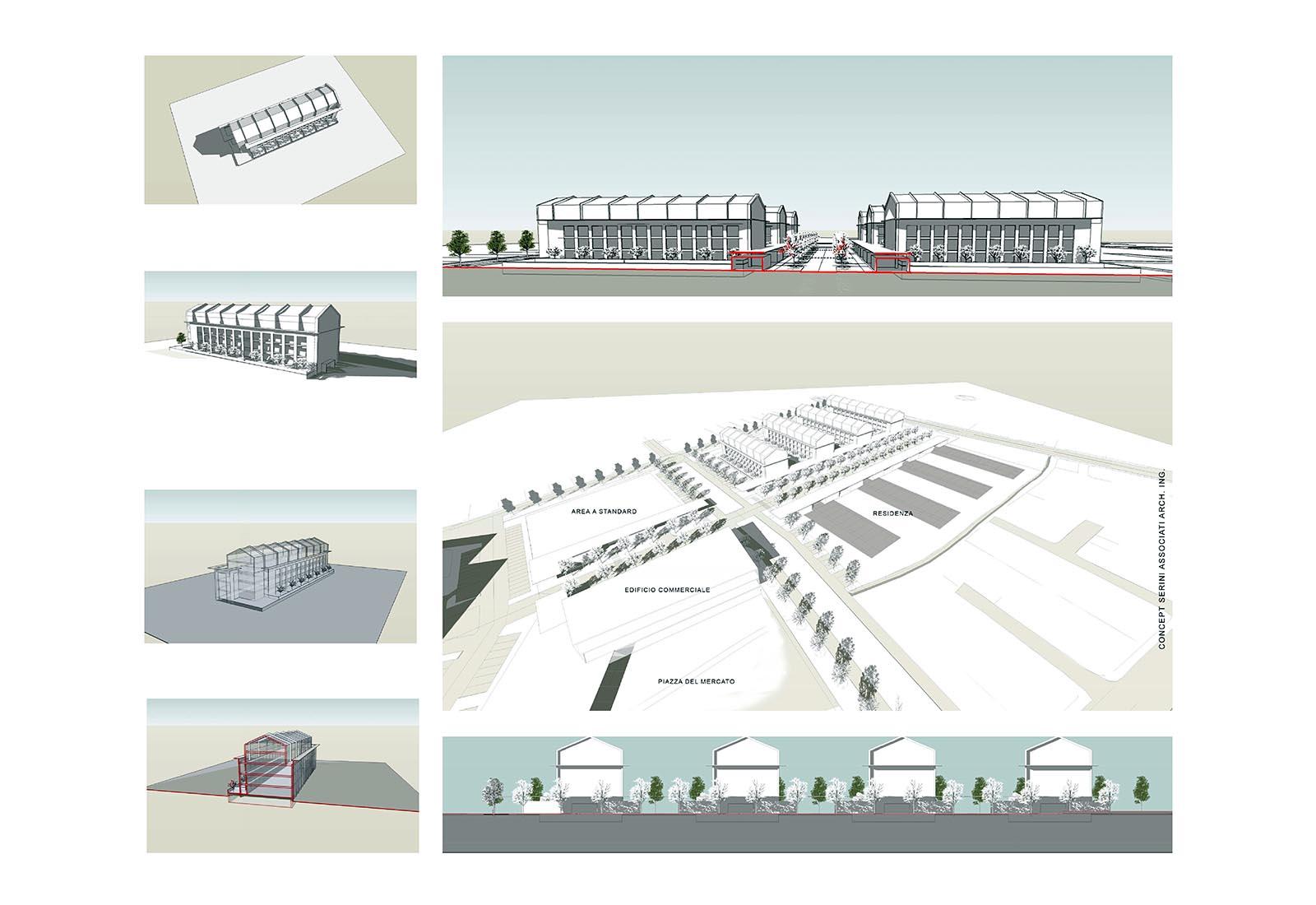 PII Fizzonasco - Modello volumetrico edificio tipo
