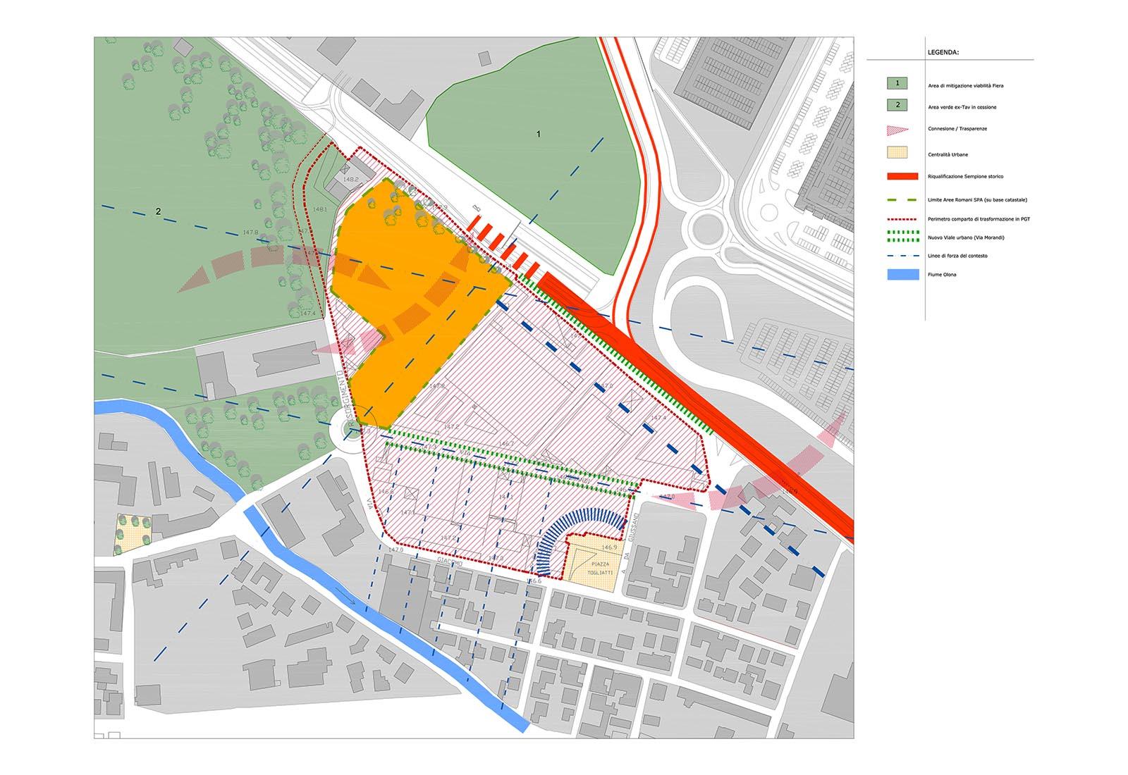 Area Romani a Pero - Analisi dei temi urbani