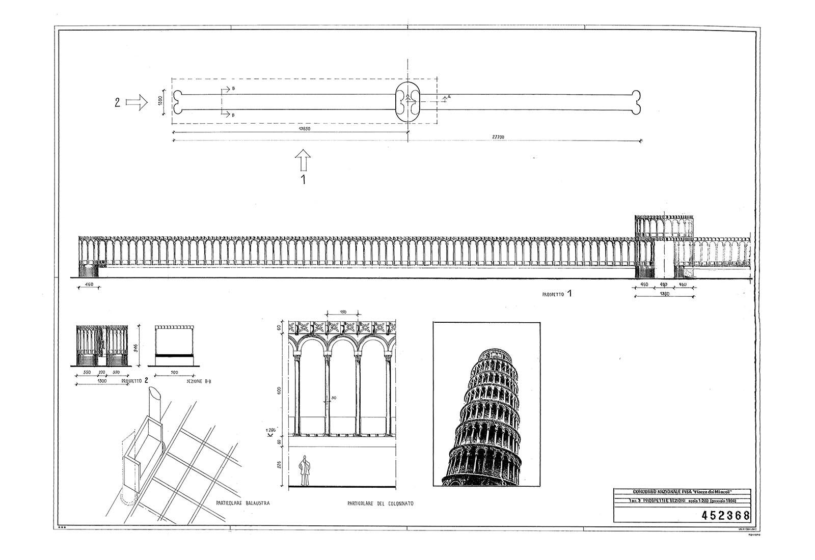 Concorso piazza dei miracoli a Pisa - Tavola n°3 del concorso