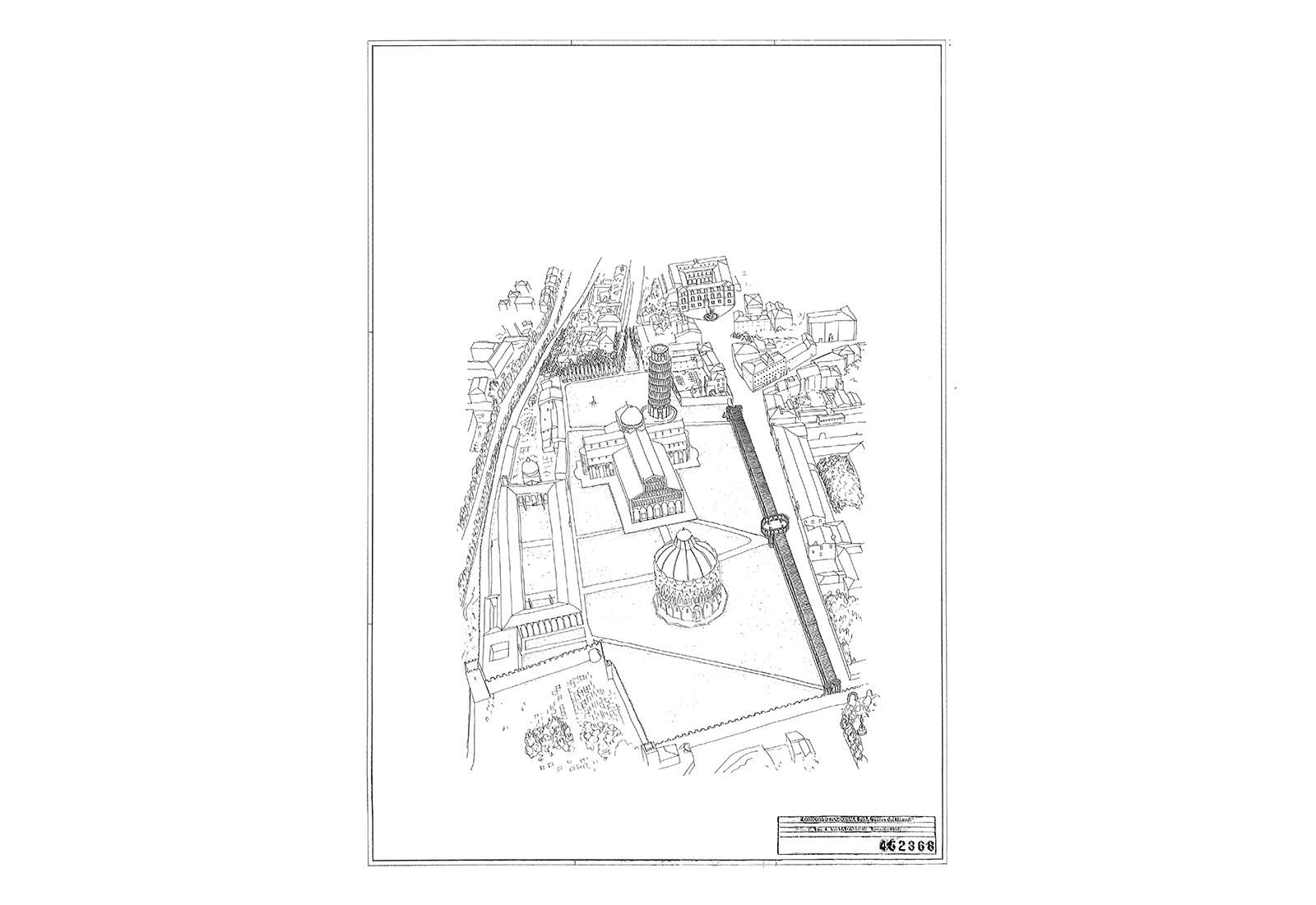 Concorso piazza dei miracoli a Pisa - Tavola n°4 del concorso