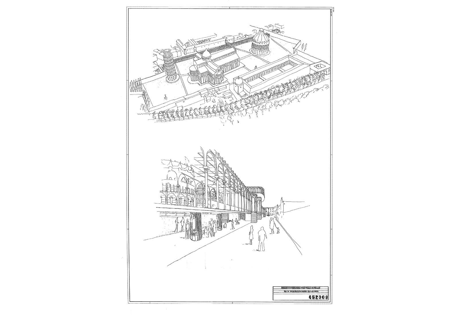 Concorso piazza dei miracoli a Pisa - Tavola n°5 del concorso