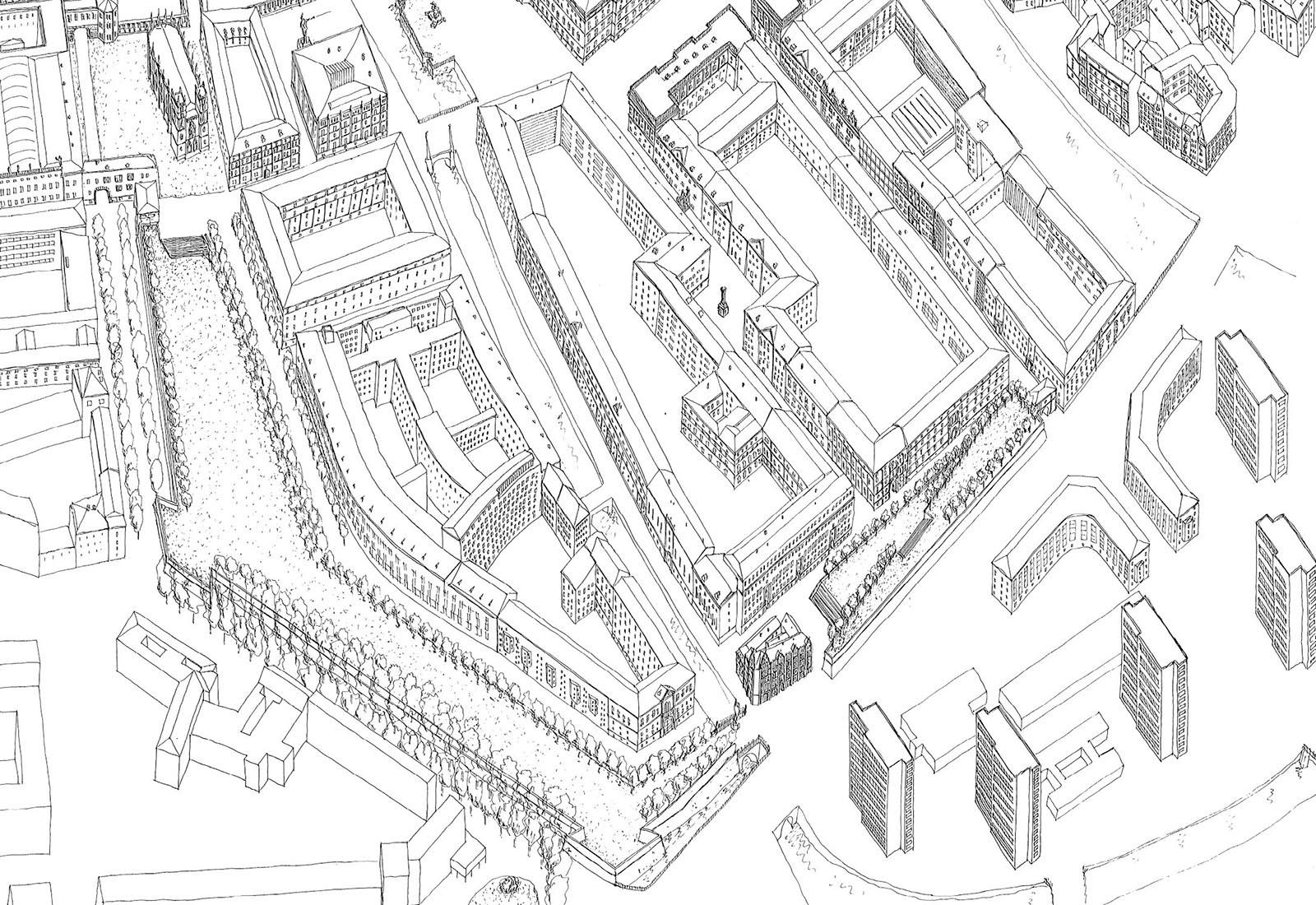 Concorso Spreeinsel Berlino - Vista 3D generale 3 di 3