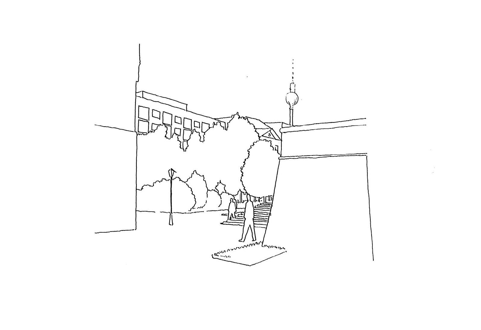 Concorso Spreeinsel Berlino - Vista prospettica n°3