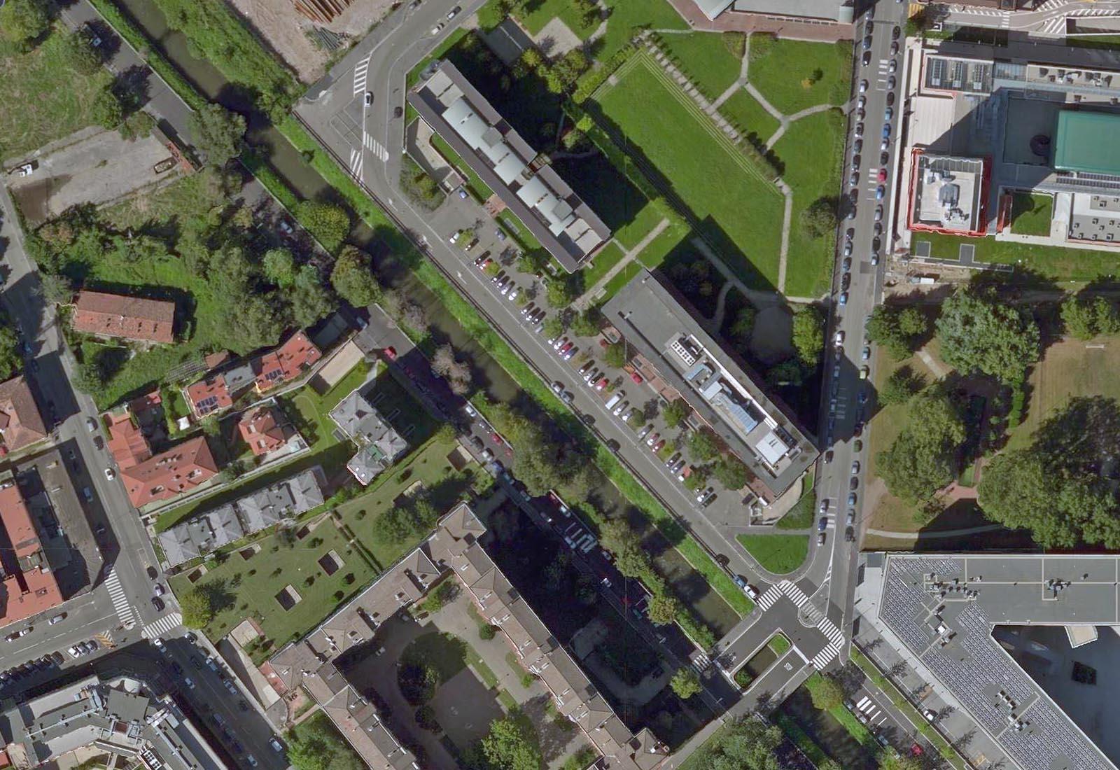 Urbanizzazioni IULM - Il ponte e i parcheggi