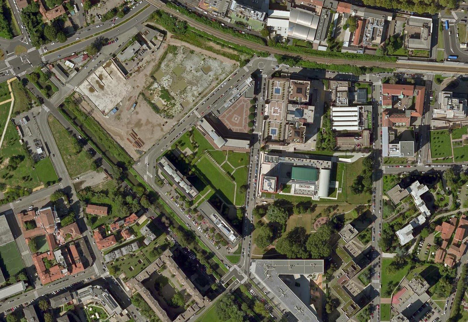 Urbanizzazioni IULM - Vista aerea zenitale