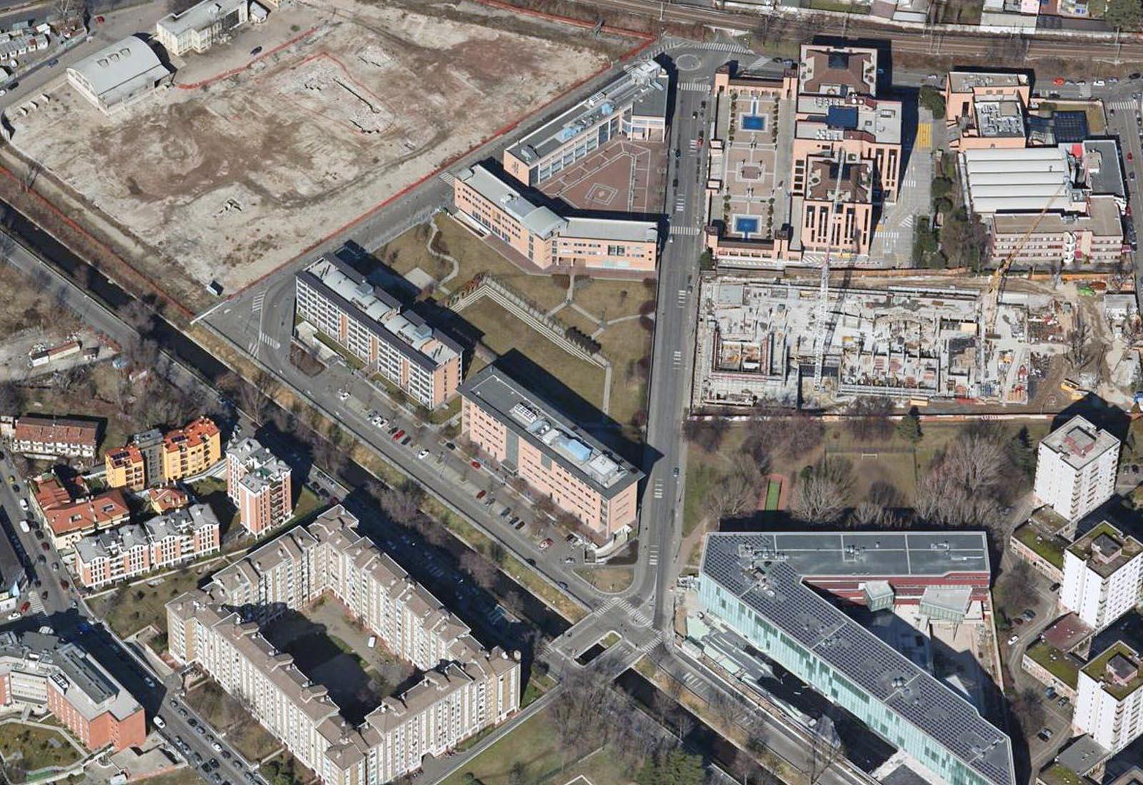 Urbanizzazioni IULM - Vista aerea