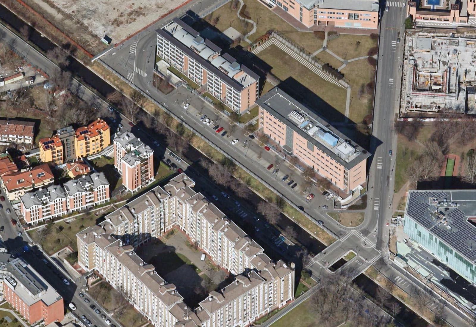 Urbanizzazioni IULM - Vista aerea di via Santander