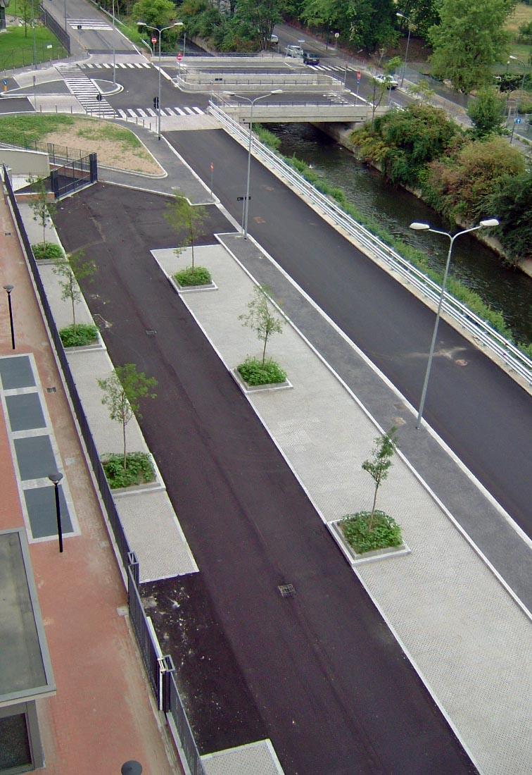 Urbanizzazioni IULM - La sistemazione di via Santander