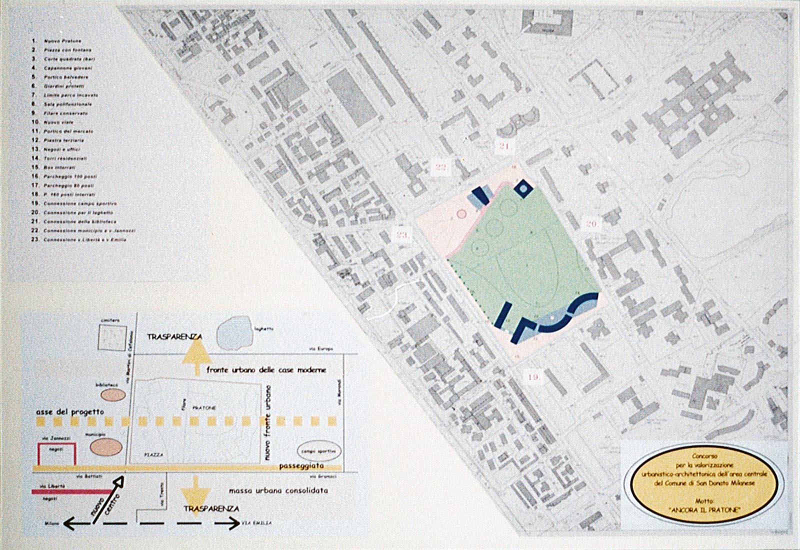 Area Il Pratone residenze a San Donato M.se - Tavolo n°1 del concorso