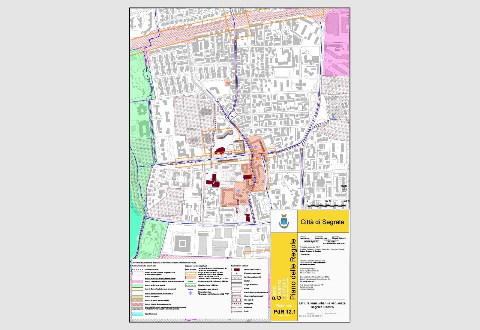 PGT Segrate - Lettura di temi urbani e sequenze - Segrate centro