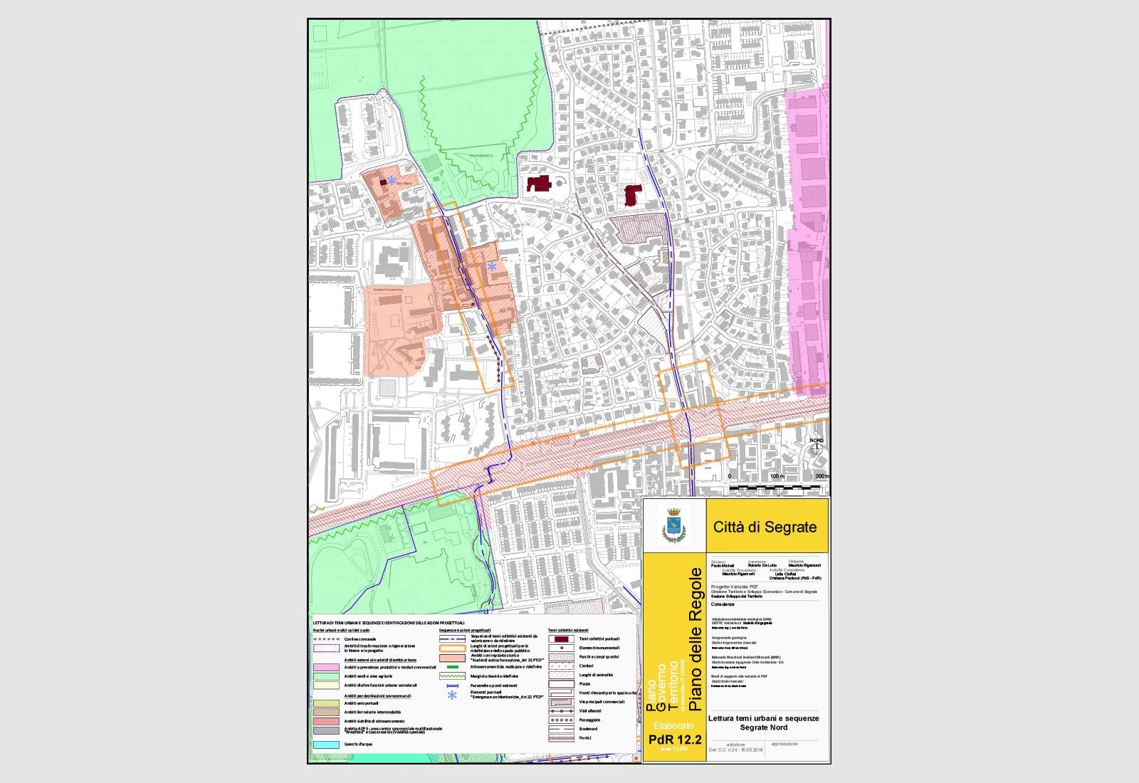 PGT Segrate - Lettura di temi urbani e sequenze - Segrate nord