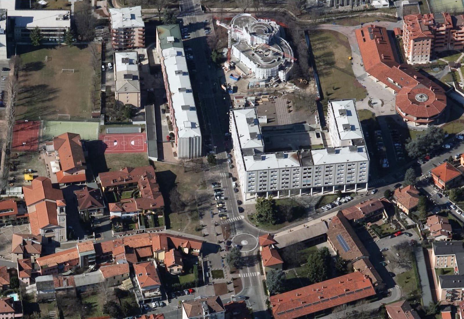 PGT Segrate - Vista aerea del centro storico