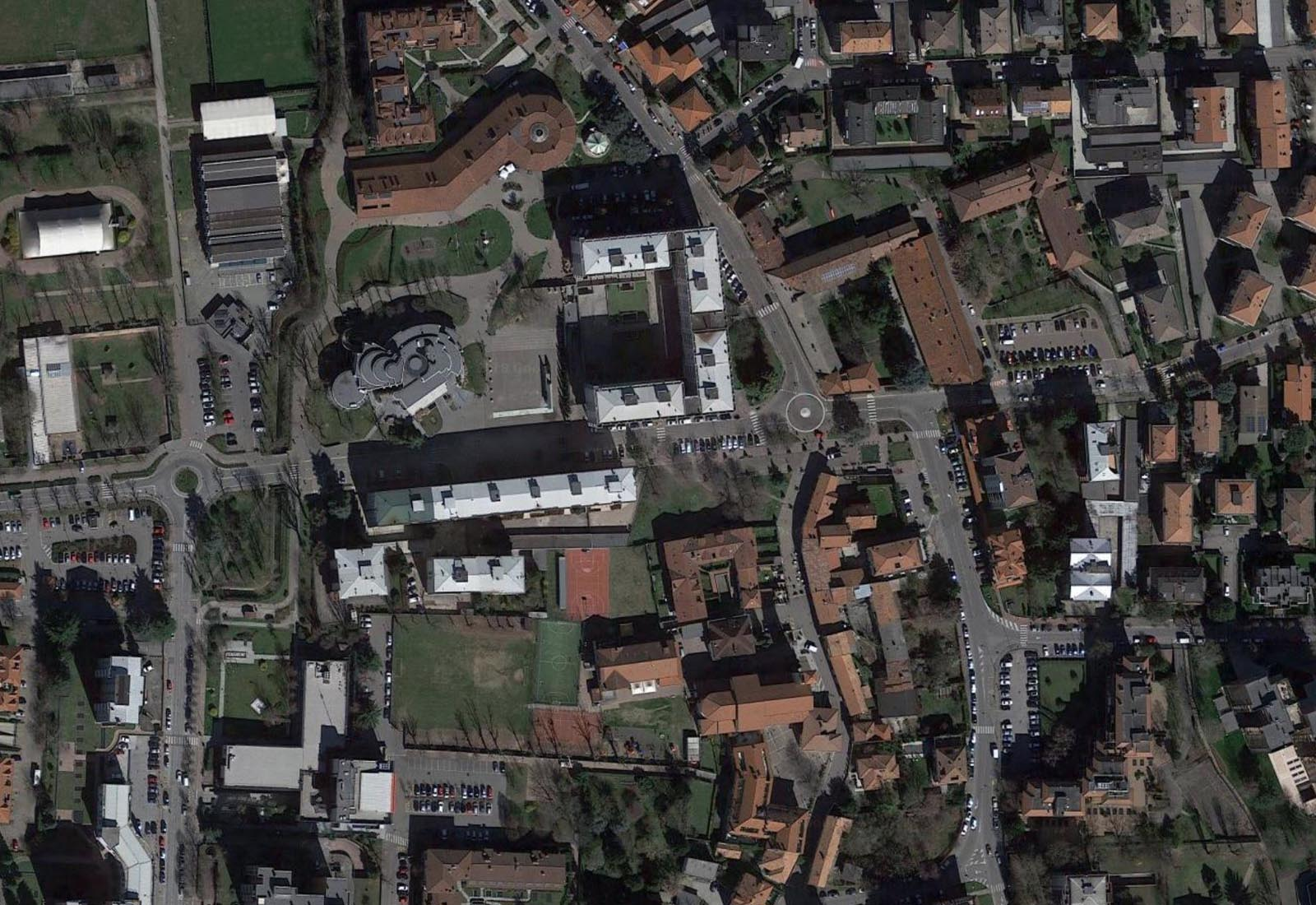 PGT Segrate - Vista aerea zenitale del centro storico
