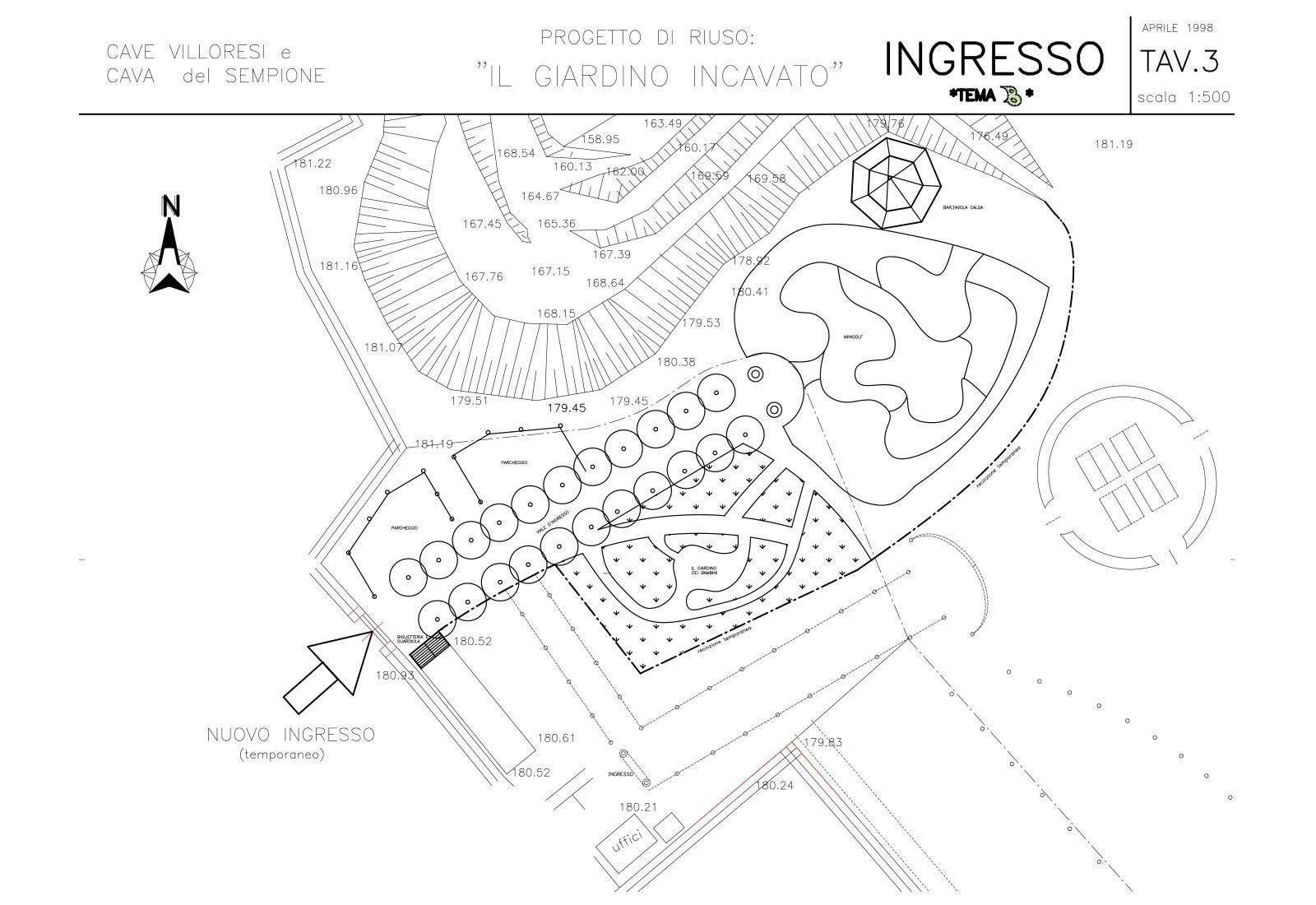 Riuso cave Villoresi e Sempione - Progetto di riuso: Tav.3 Ingresso