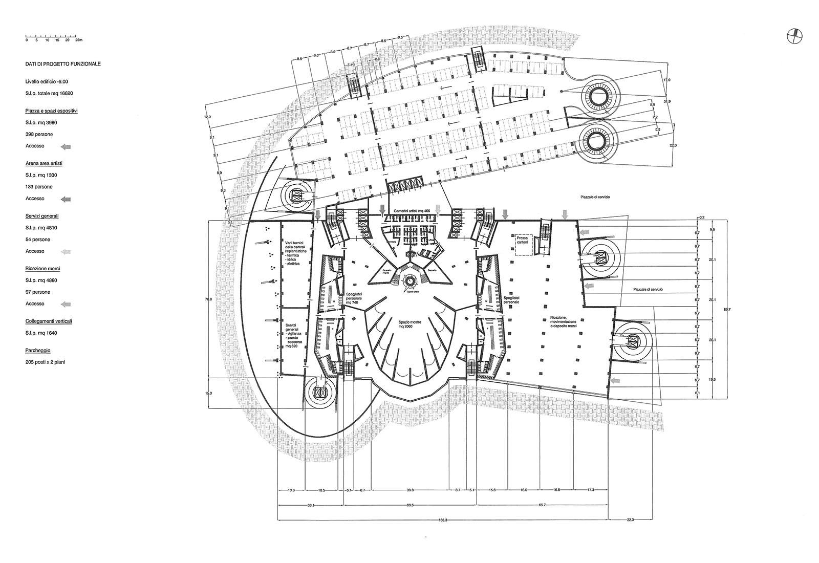 Leisure center a Rho - Pianta piano interrato