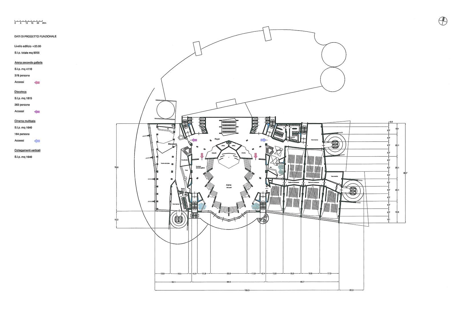 Leisure center a Rho - Pianta piano terzo