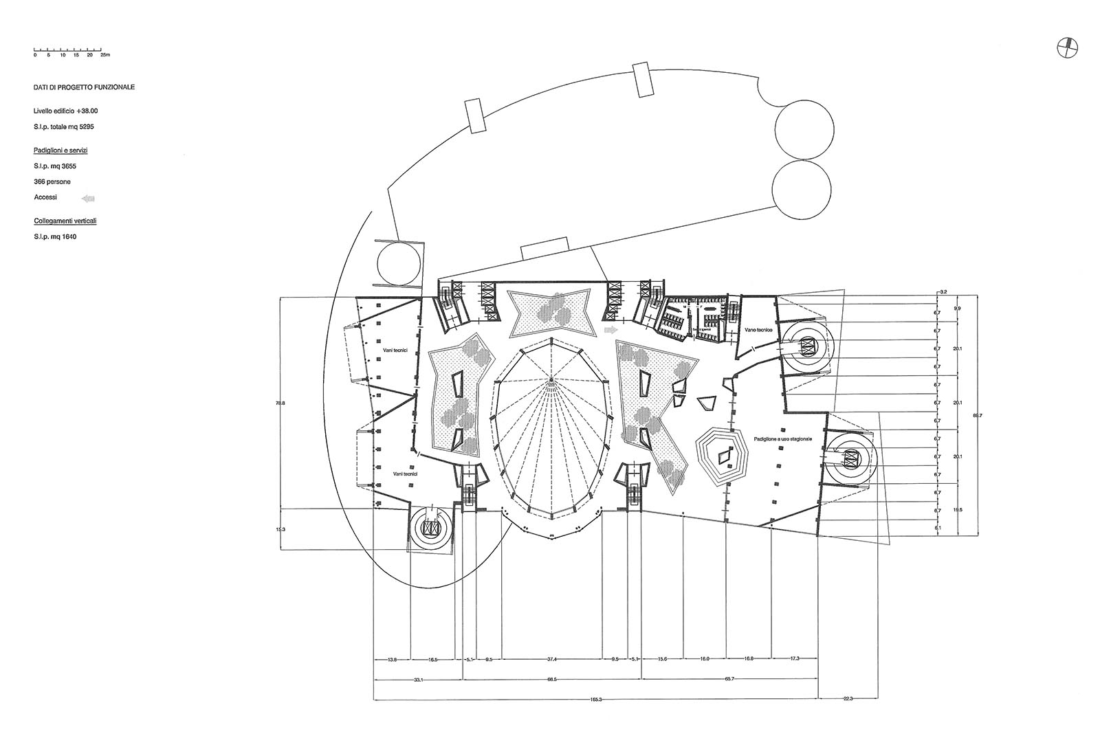 Leisure center a Rho - Pianta piano copertura