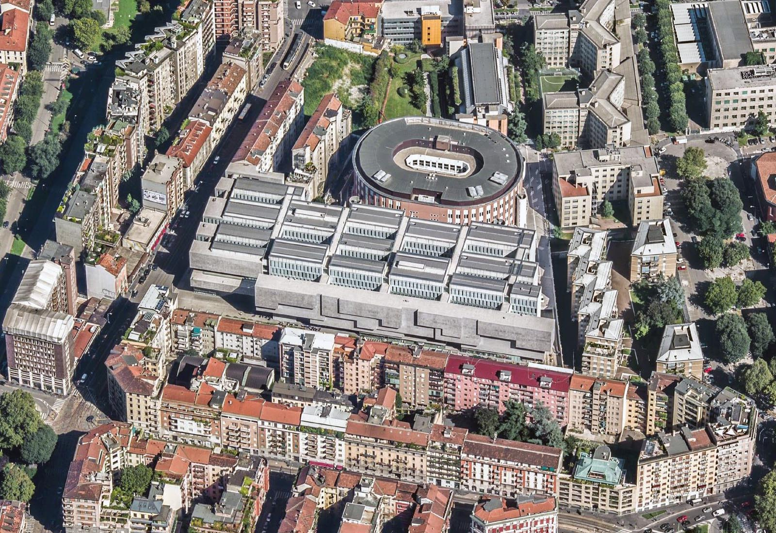Ampliamento Università Commerciale L. Bocconi a Milano - Vista aerea