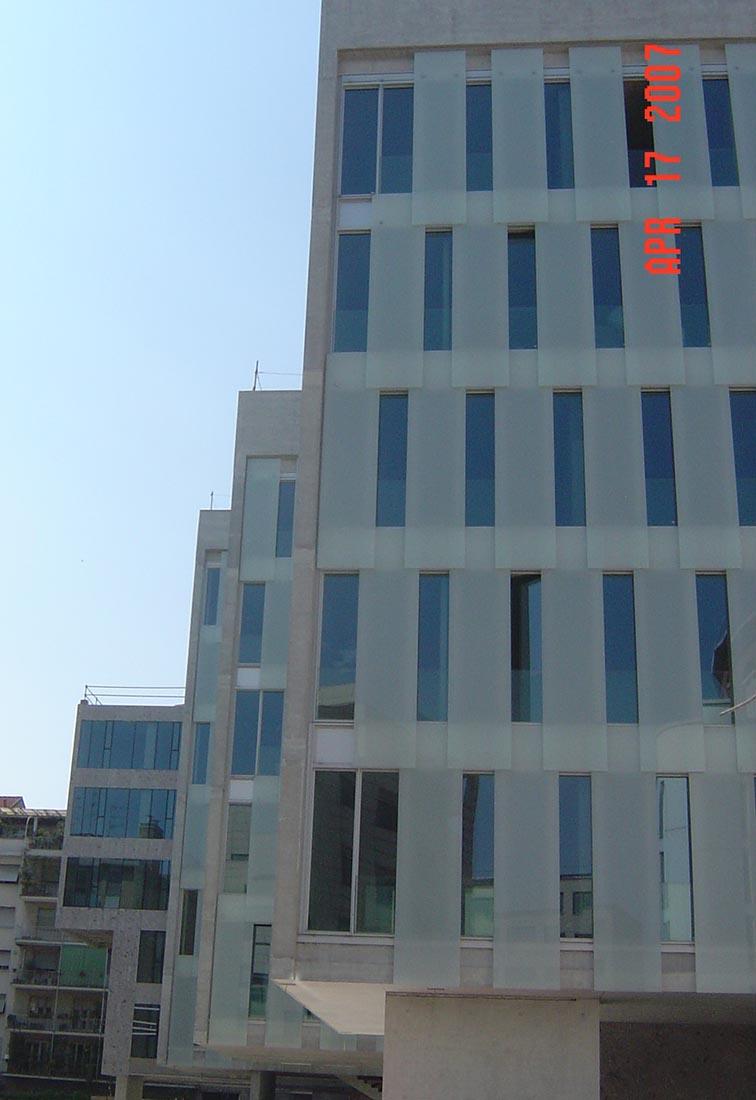 Ampliamento Università Commerciale L. Bocconi a Milano - Dettaglio della facciata