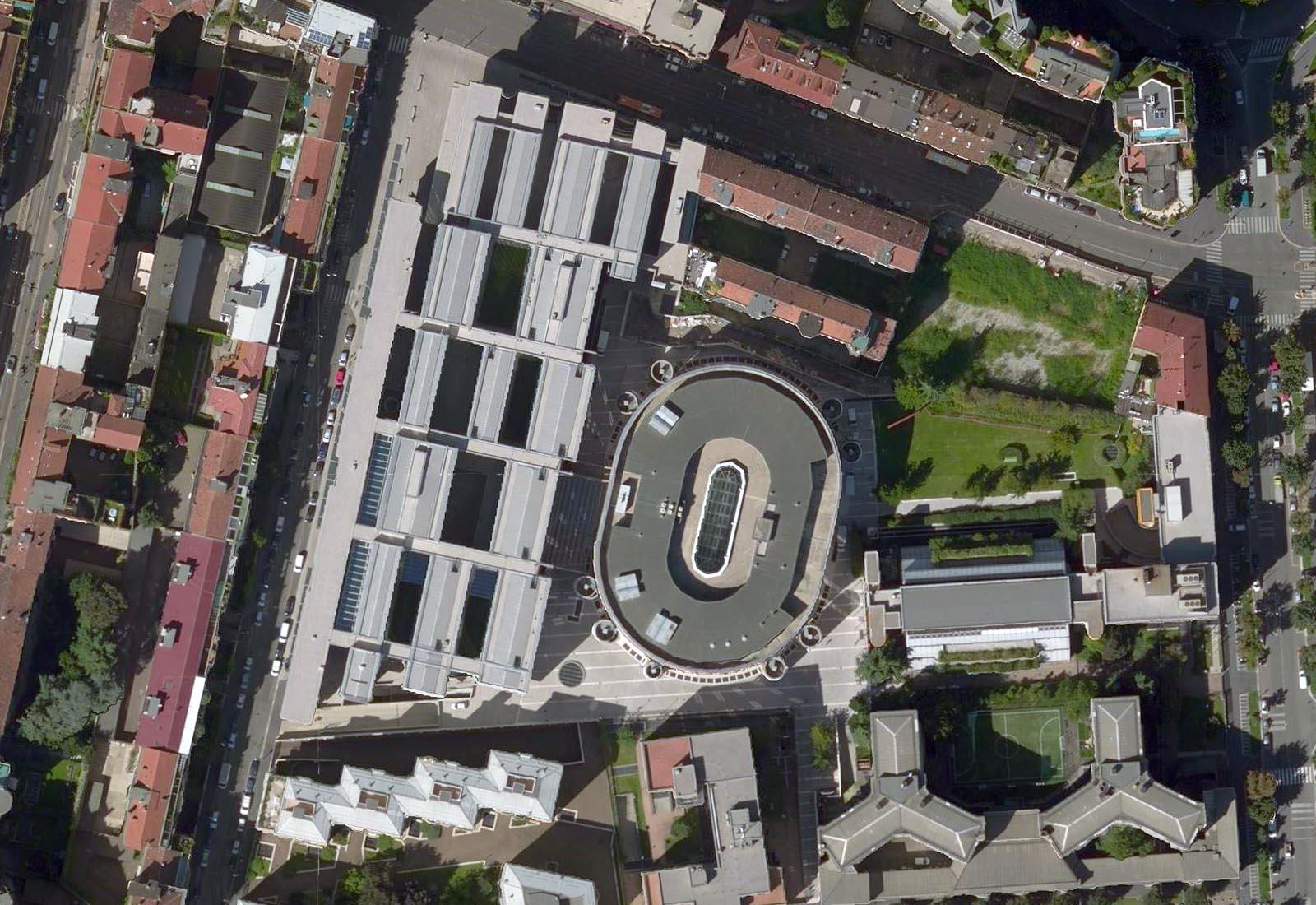 Ampliamento Università Commerciale L. Bocconi a Milano - Vista aerea zenitale