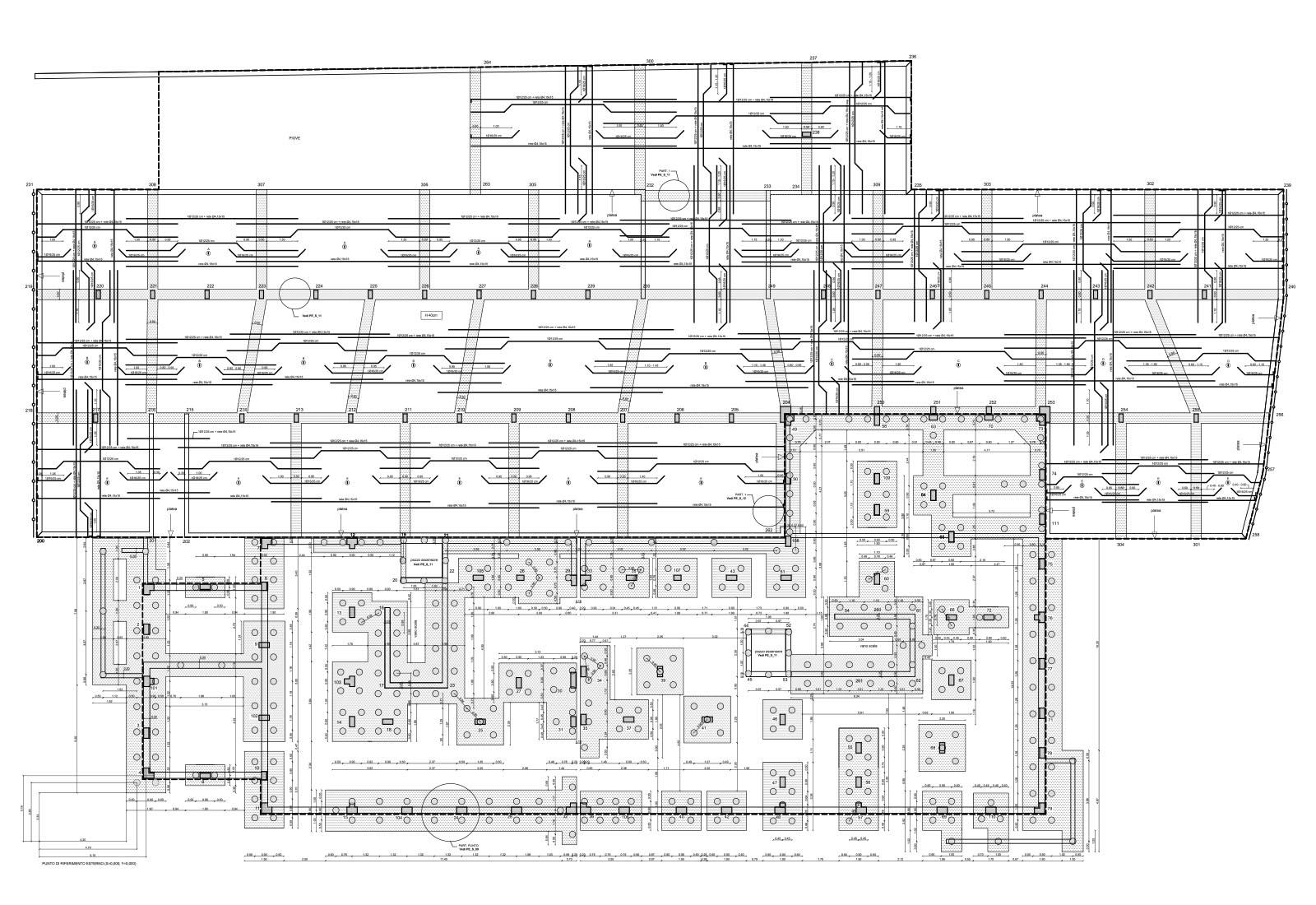 Edificio residenziale ERP a Lissone - Pianta delle fondazioni