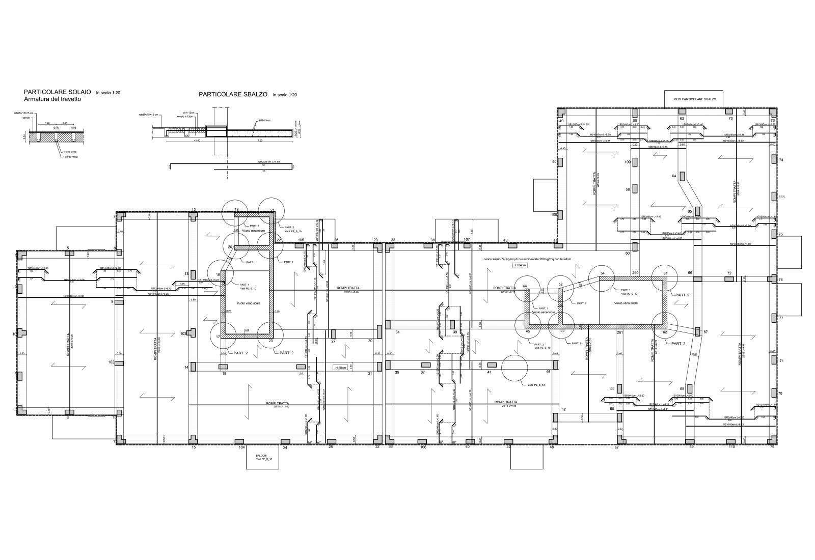 Edificio residenziale ERP a Lissone - Pianta piano tipo