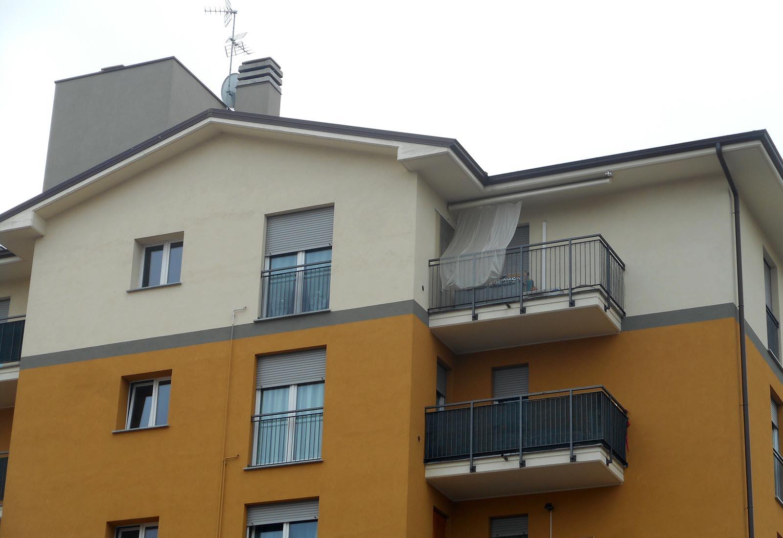 Edificio residenziale ERP a Lissone - Dettaglio della facciata