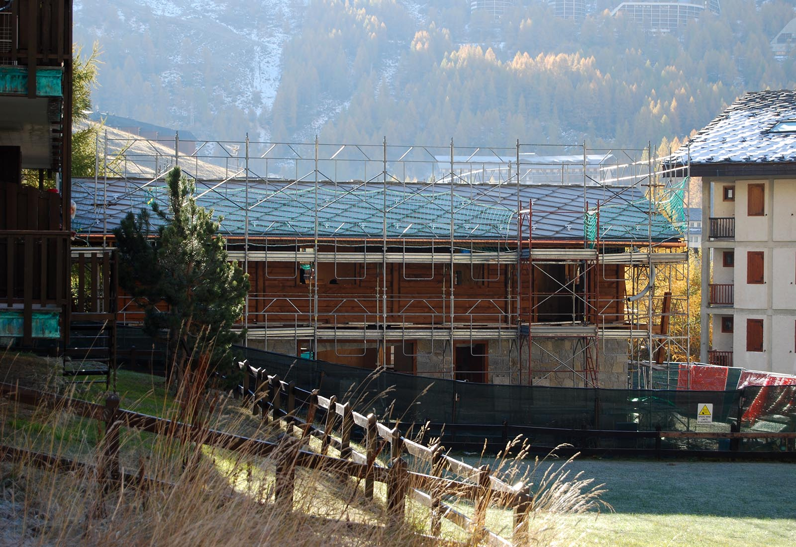Edificio residenziale a Cervinia - Il cantiere