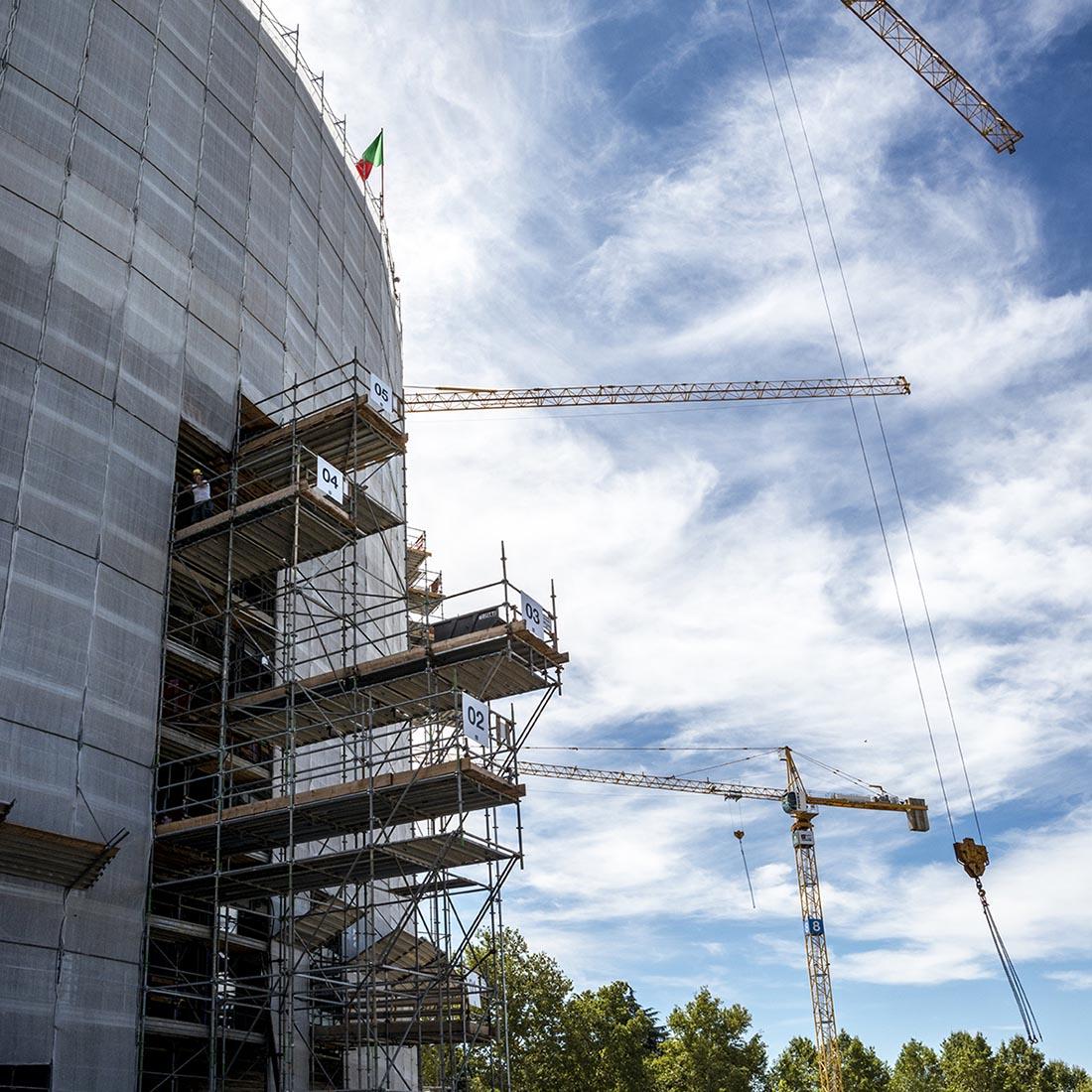 Residenze universitarie Bocconi in via Castiglioni a Milano - Il cantiere