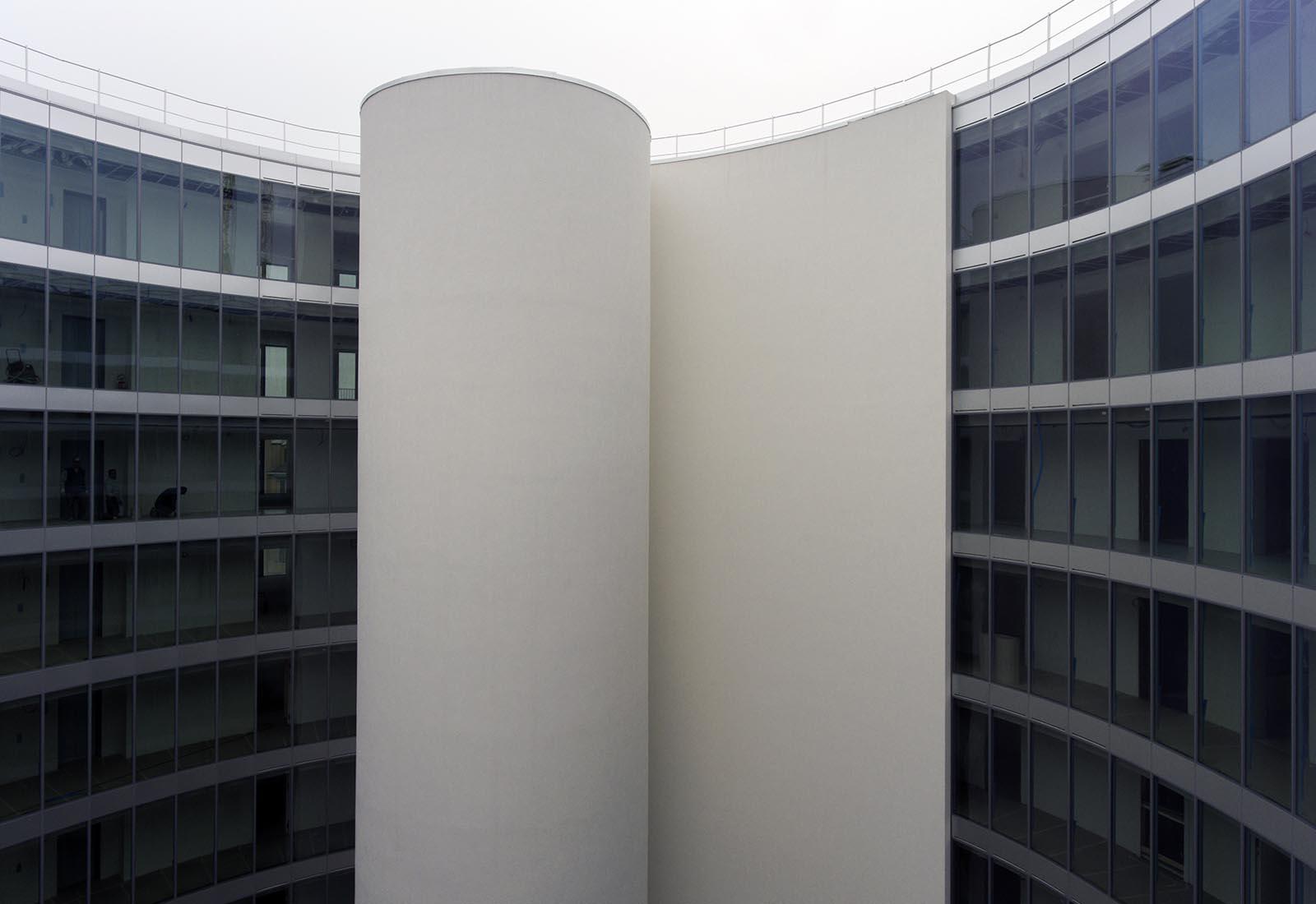 Residenze universitarie Bocconi in via Castiglioni a Milano - Vista della corte interna