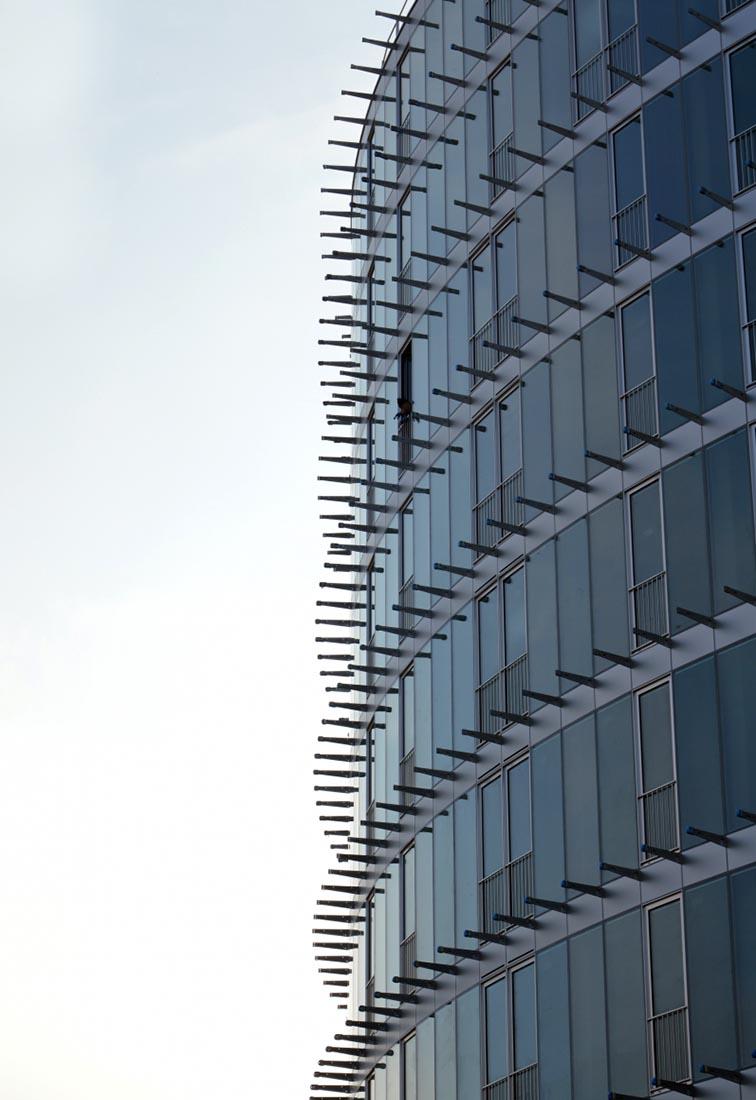 Residenze universitarie Bocconi in via Castiglioni a Milano - Dettaglio della facciata