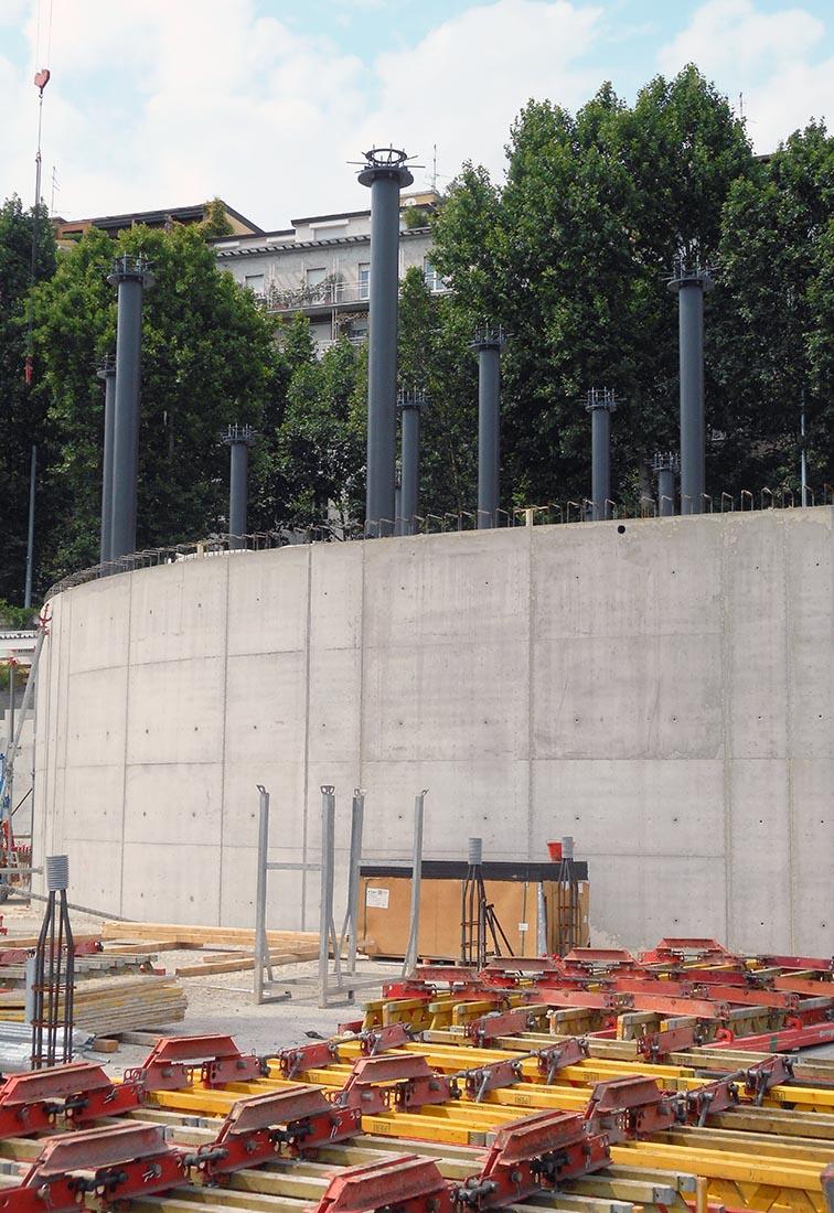 Edifici del campus Bocconi in via Castiglioni a Milano - Dettaglio della struttura
